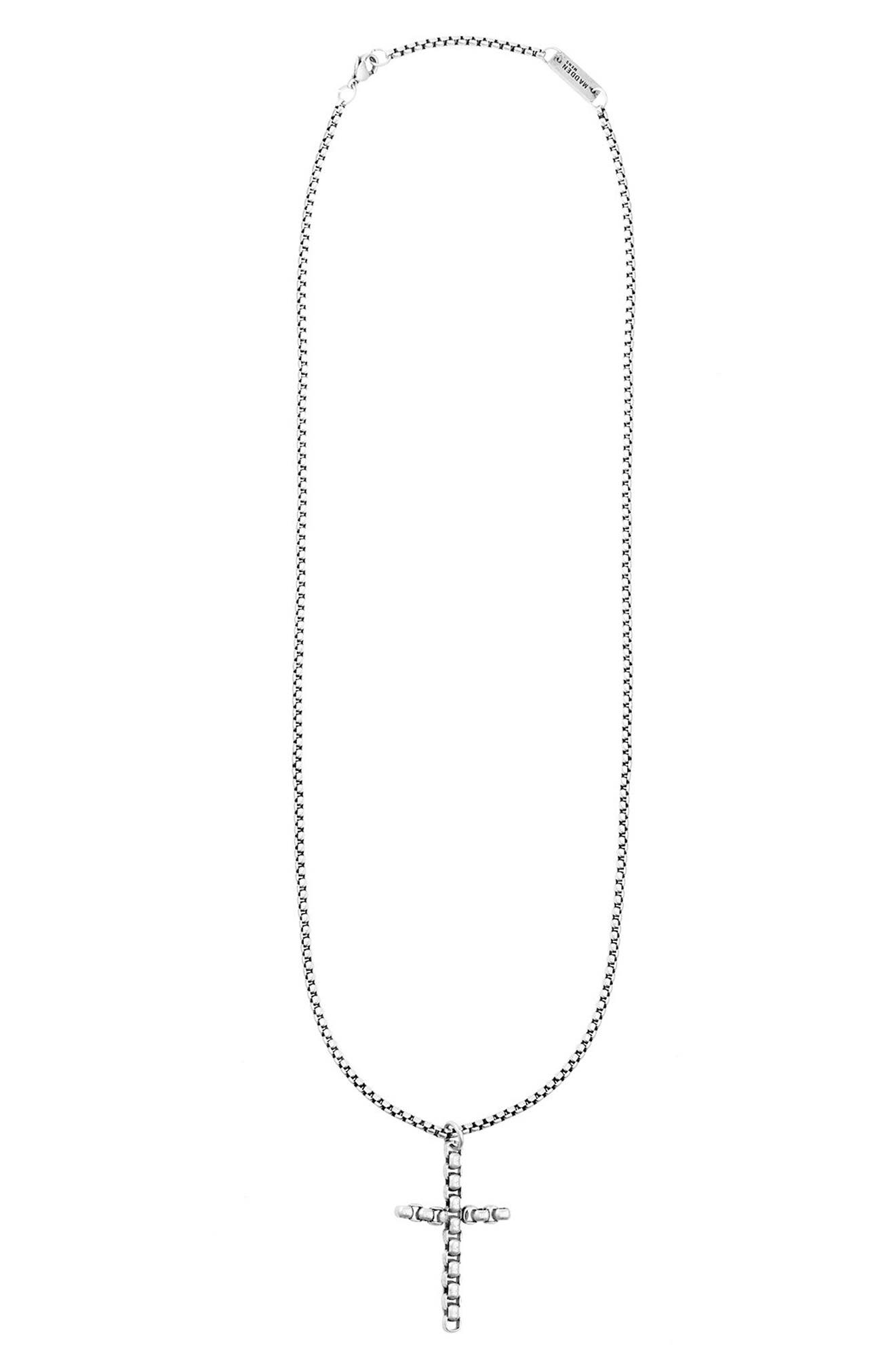 Main Image - Steve Madden Cross Pendant Necklace