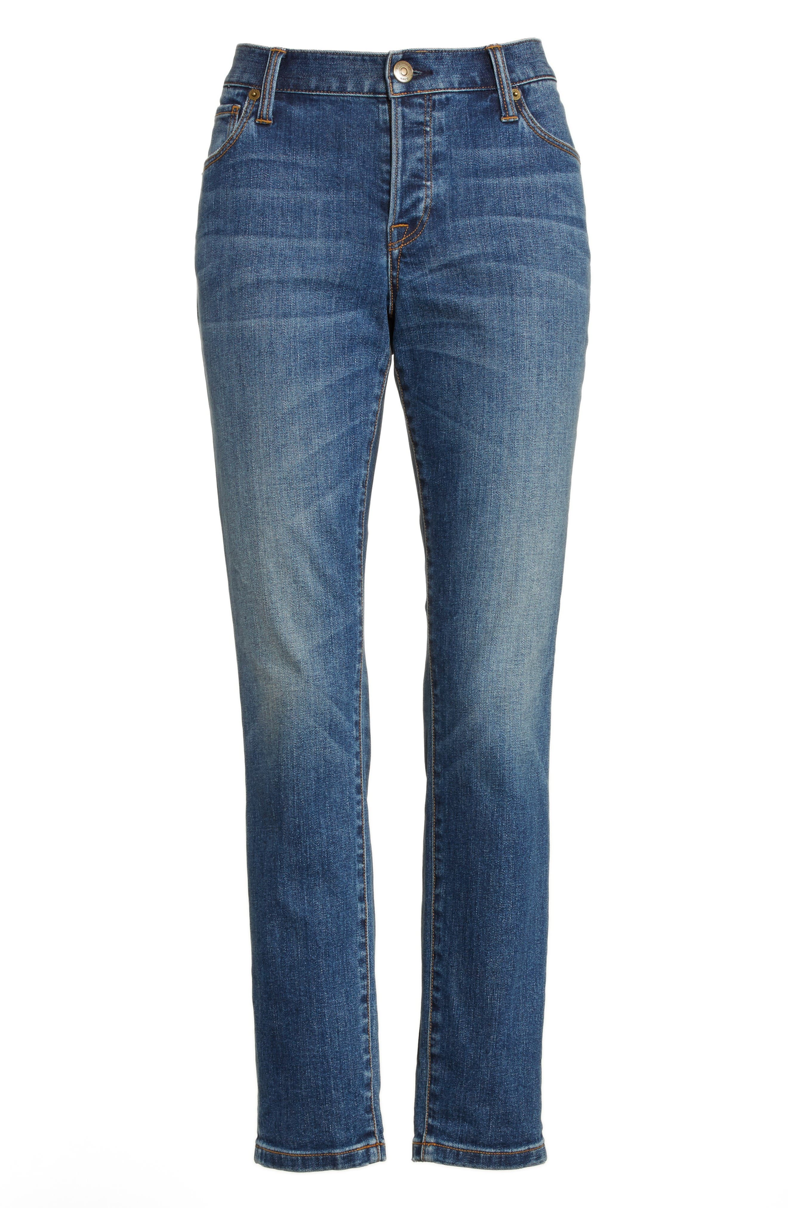 Alternate Image 4  - Burberry Relaxed Skinny Jeans
