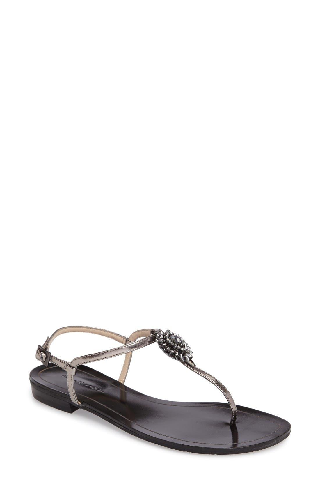 Main Image - Pelle Moda Baxley 3 Crystal Embellished Sandal (Women)