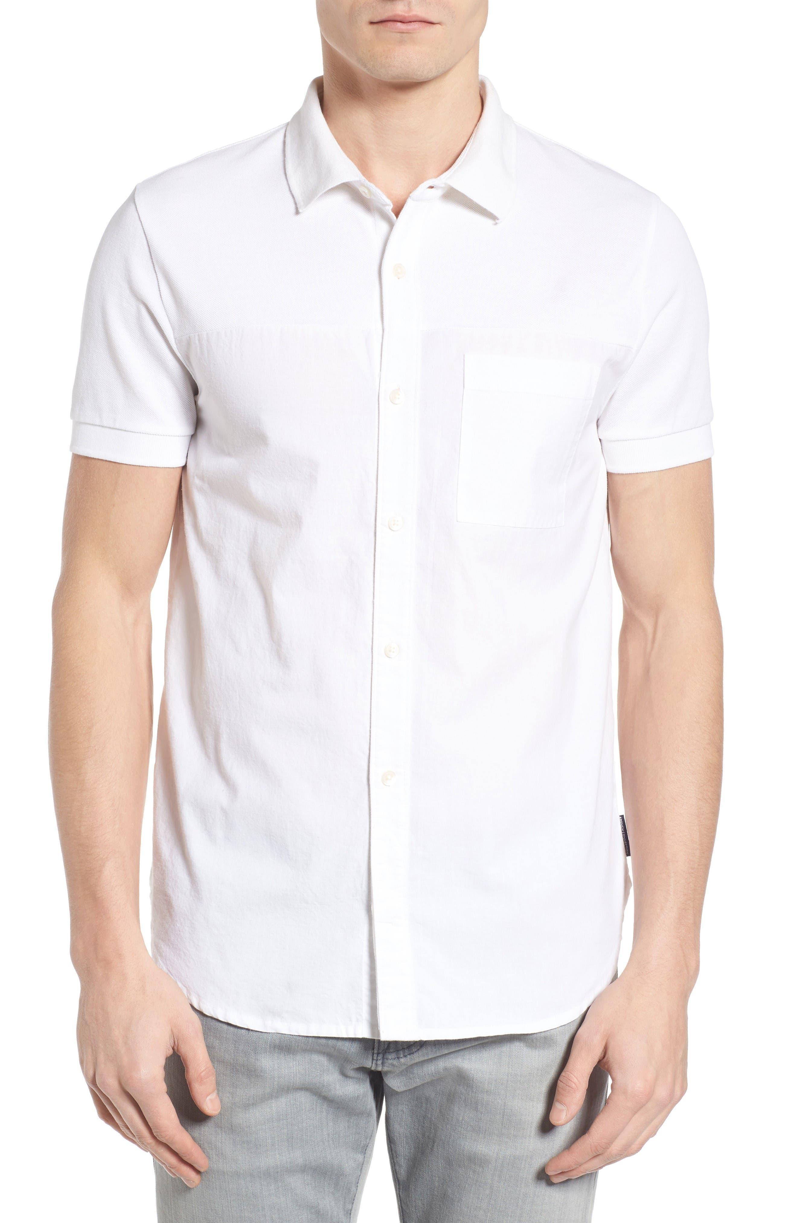 Slim Fit Hybrid Polo Shirt,                         Main,                         color, White