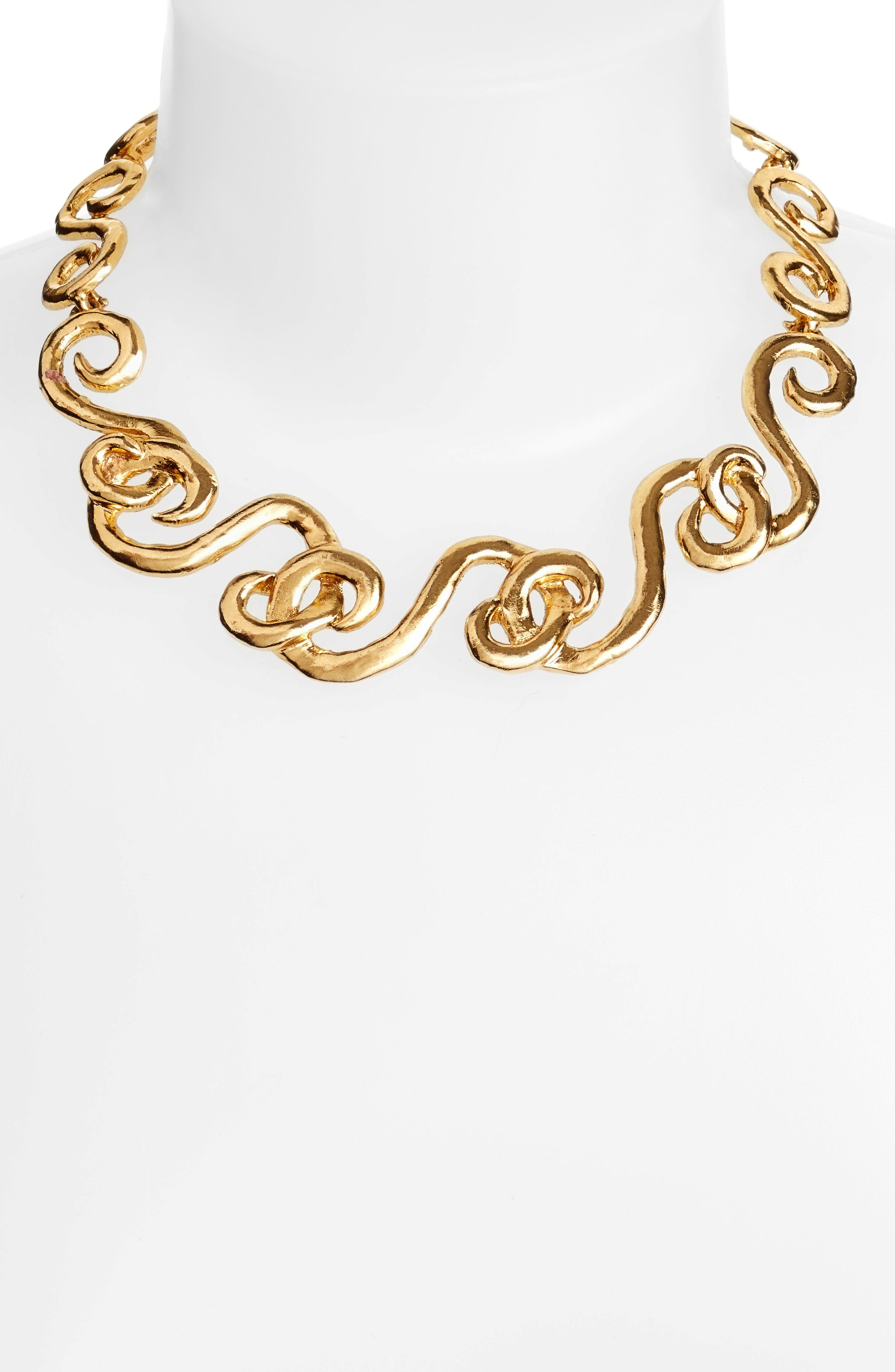 Swirl Necklace,                             Alternate thumbnail 2, color,                             Gold