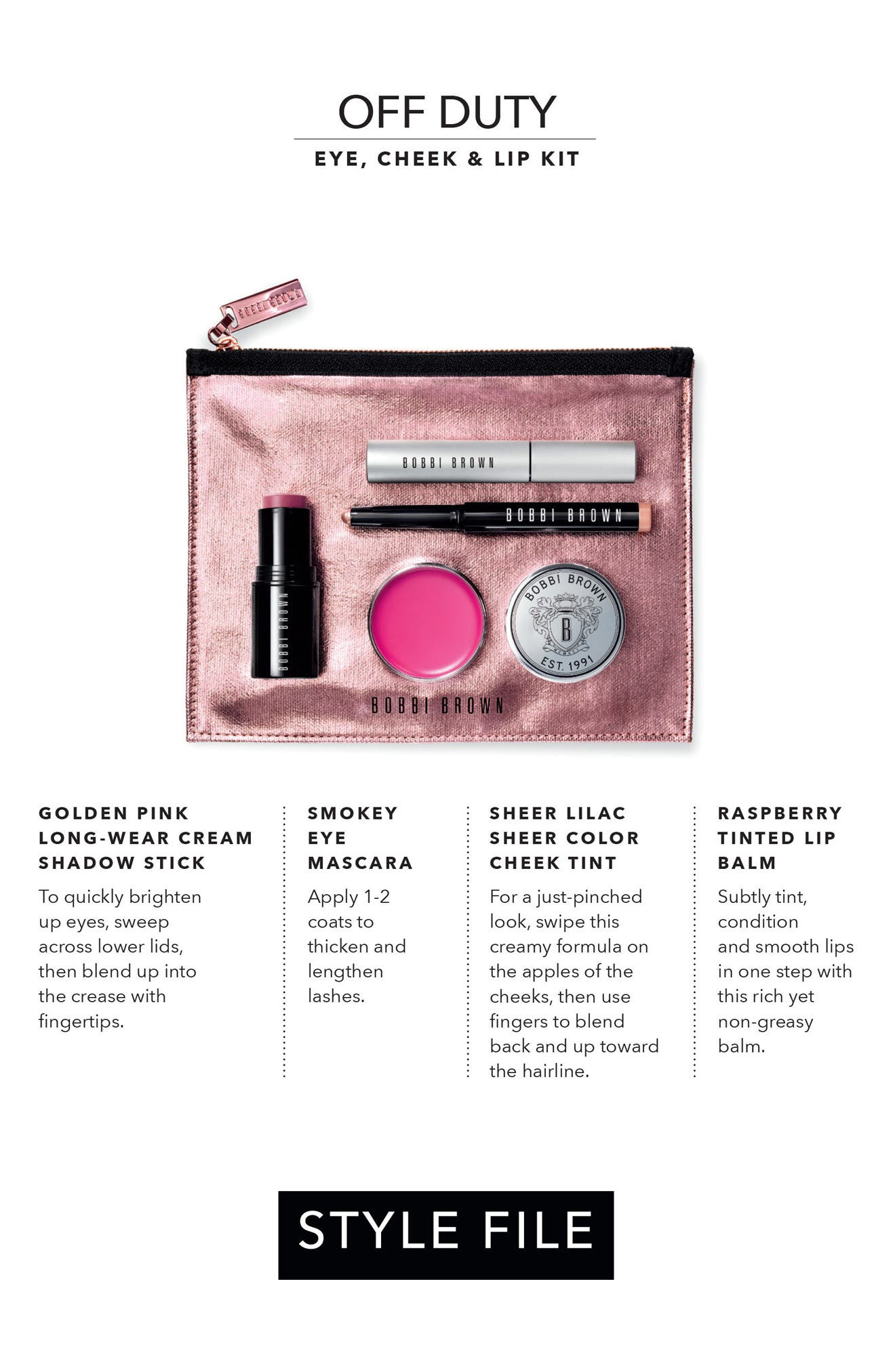 Alternate Image 4  - Bobbi Brown Style File Off Duty Eye, Cheek & Lip Kit (Nordstrom Exclusive) ($140 value)