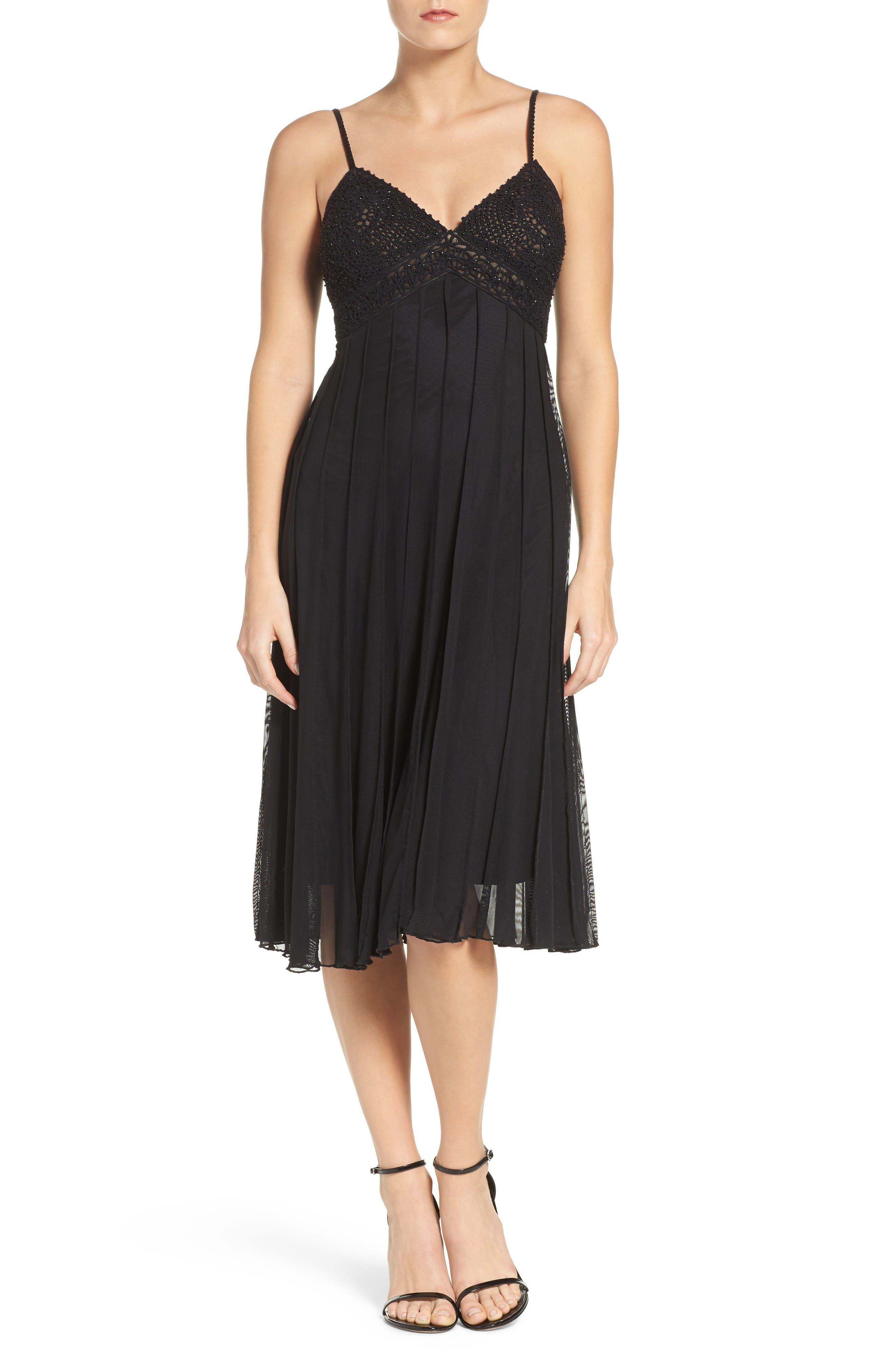ECI Beaded A-Line Dress
