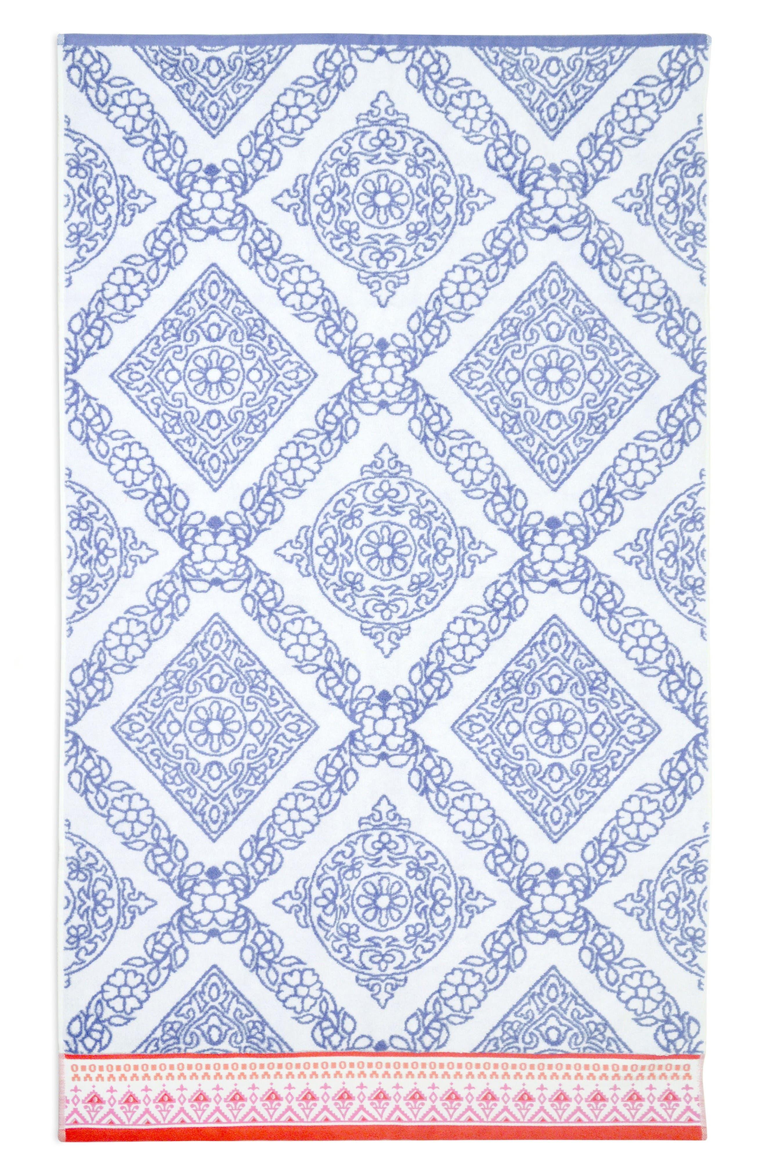 Mitta Bath Towel,                             Main thumbnail 1, color,                             Periwinkle