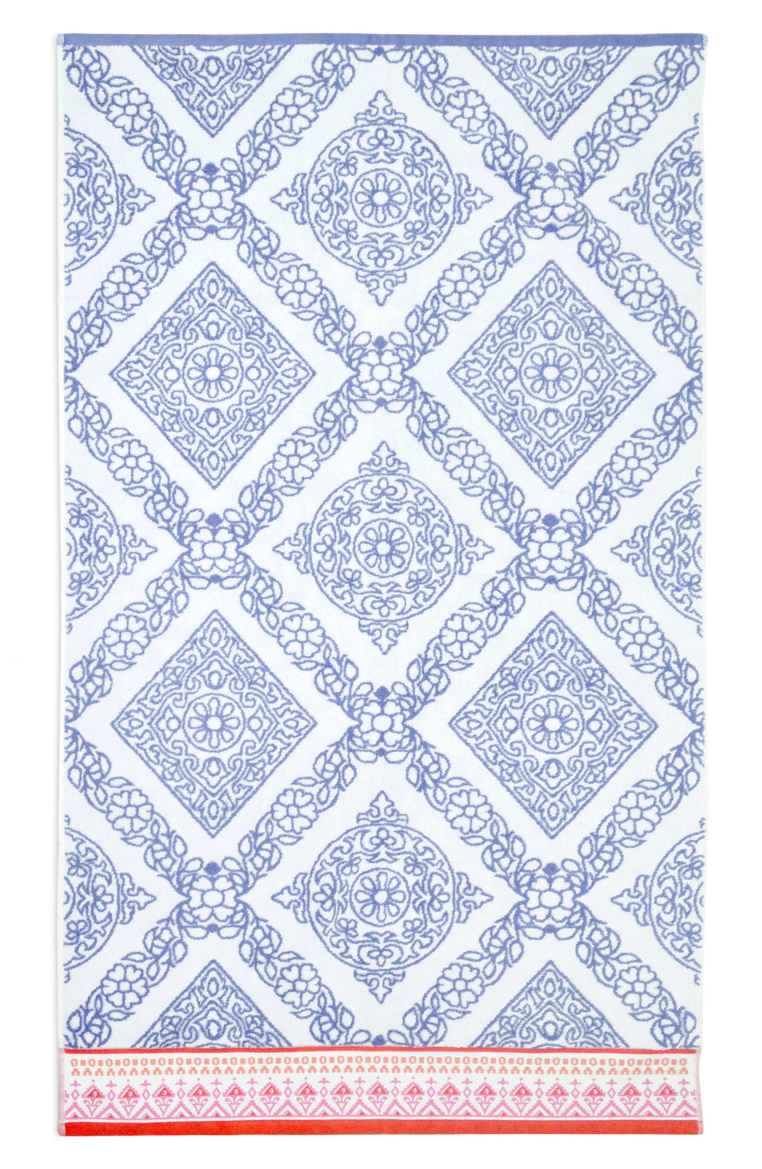 Mitta Bath Towel,                         Main,                         color, Periwinkle