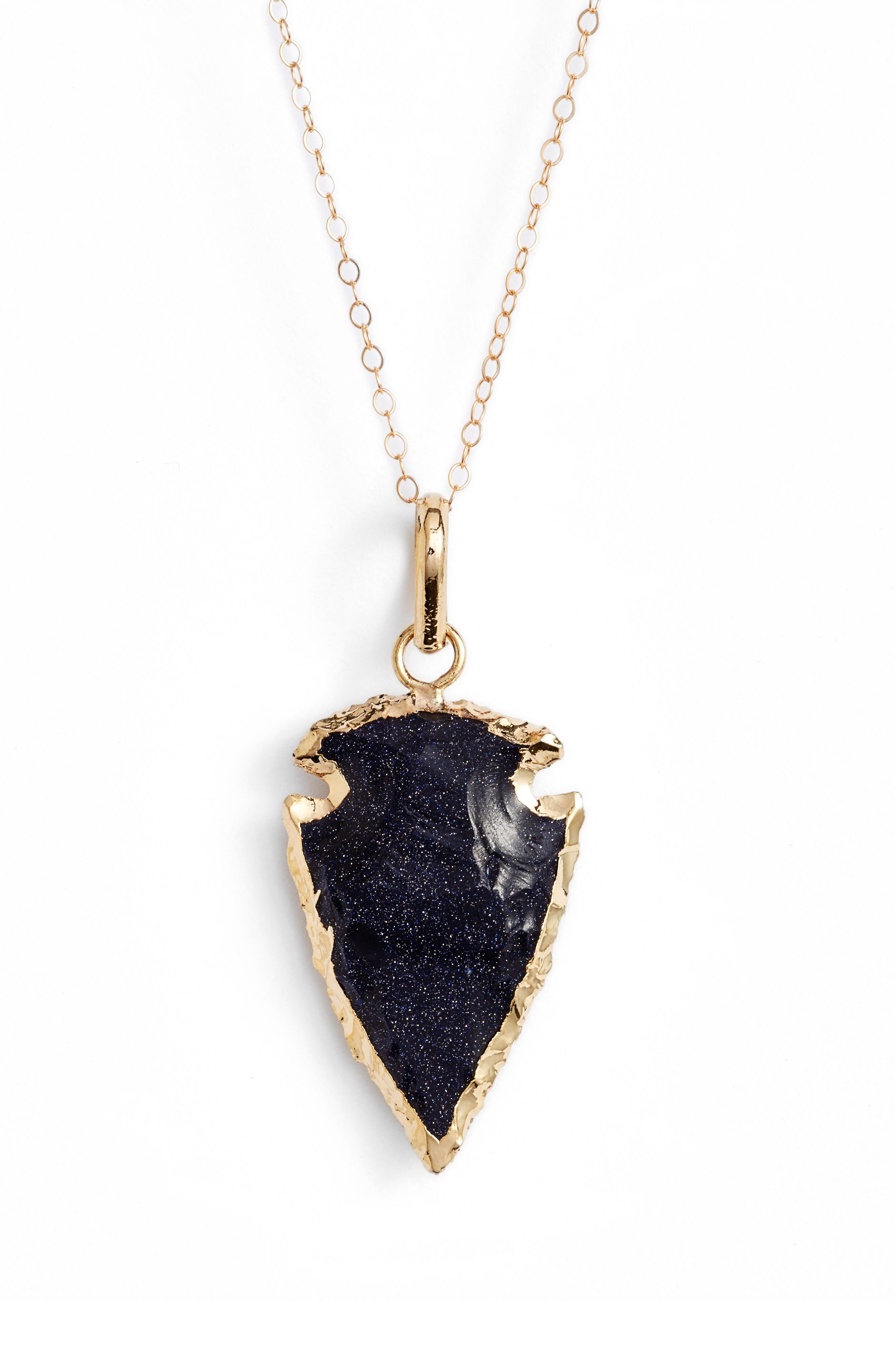 Alternate Image 1 Selected - Love's Affect Stone Arrowhead Necklace