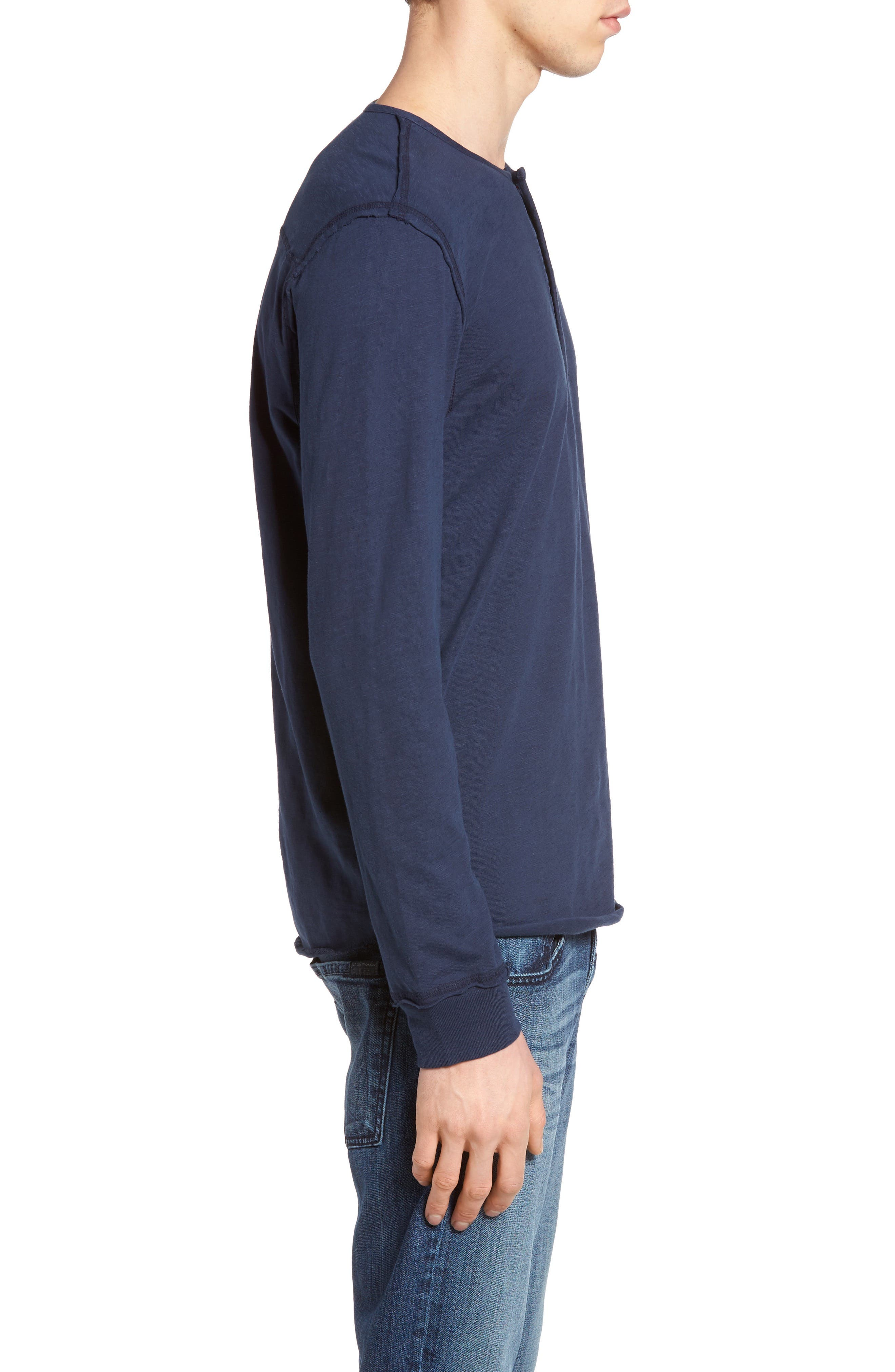 Alternate Image 3  - True Religion Brand Jeans Raw Edge Henley