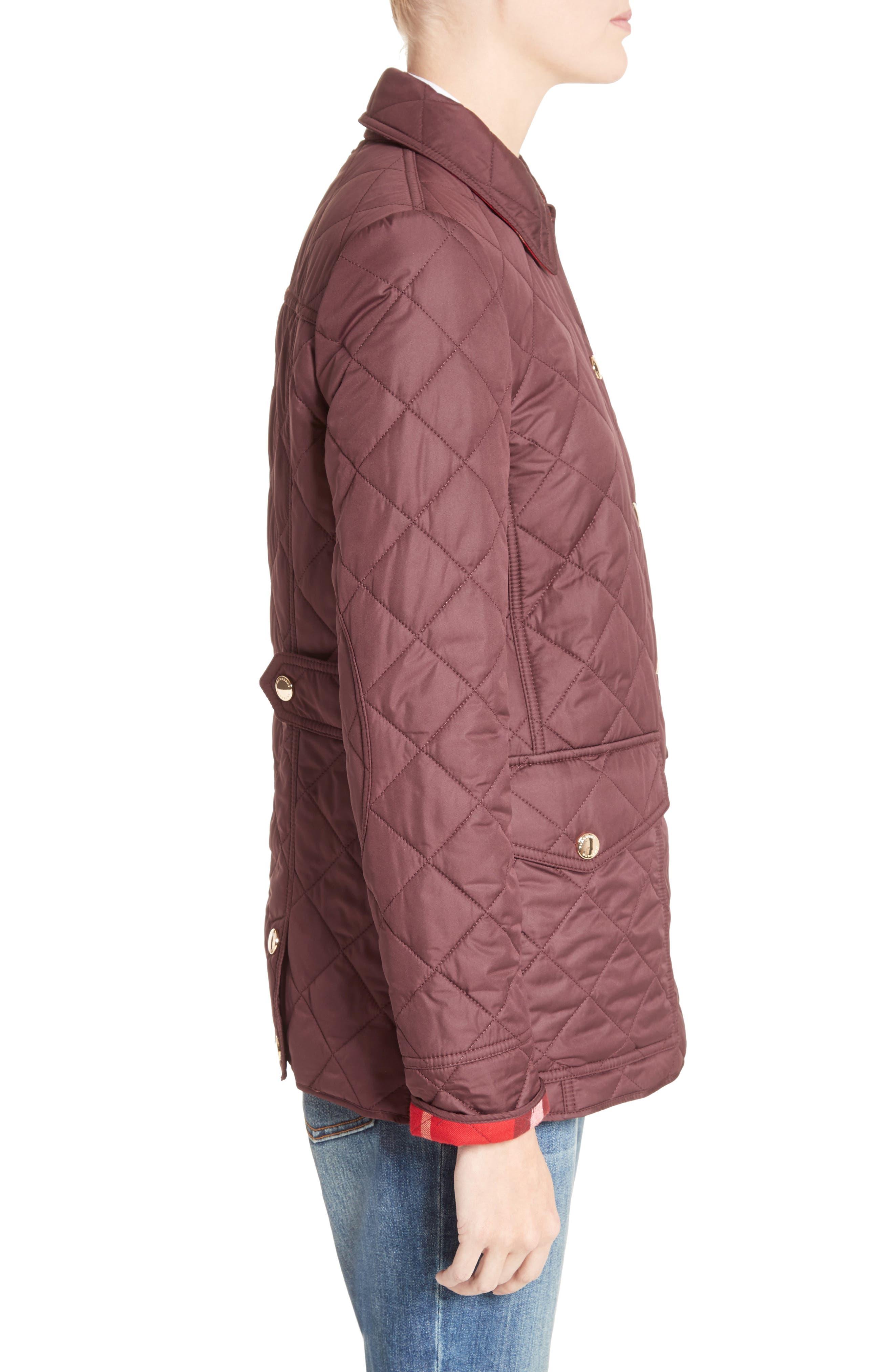 Westbridge Quilted Jacket,                             Alternate thumbnail 4, color,                             Burgundy