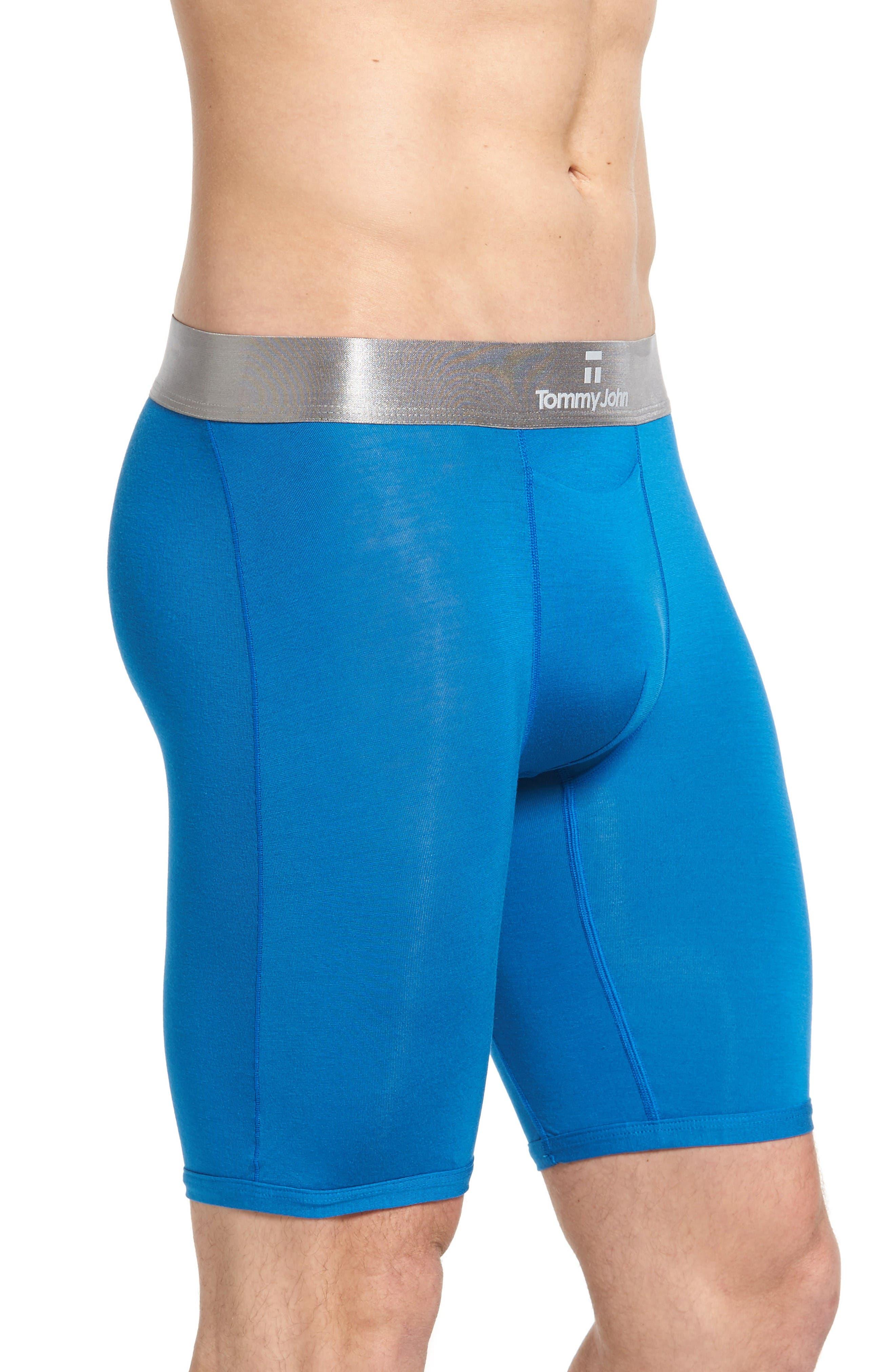 Second Skin Titanium Boxer Briefs,                             Alternate thumbnail 3, color,                             Imperial Blue