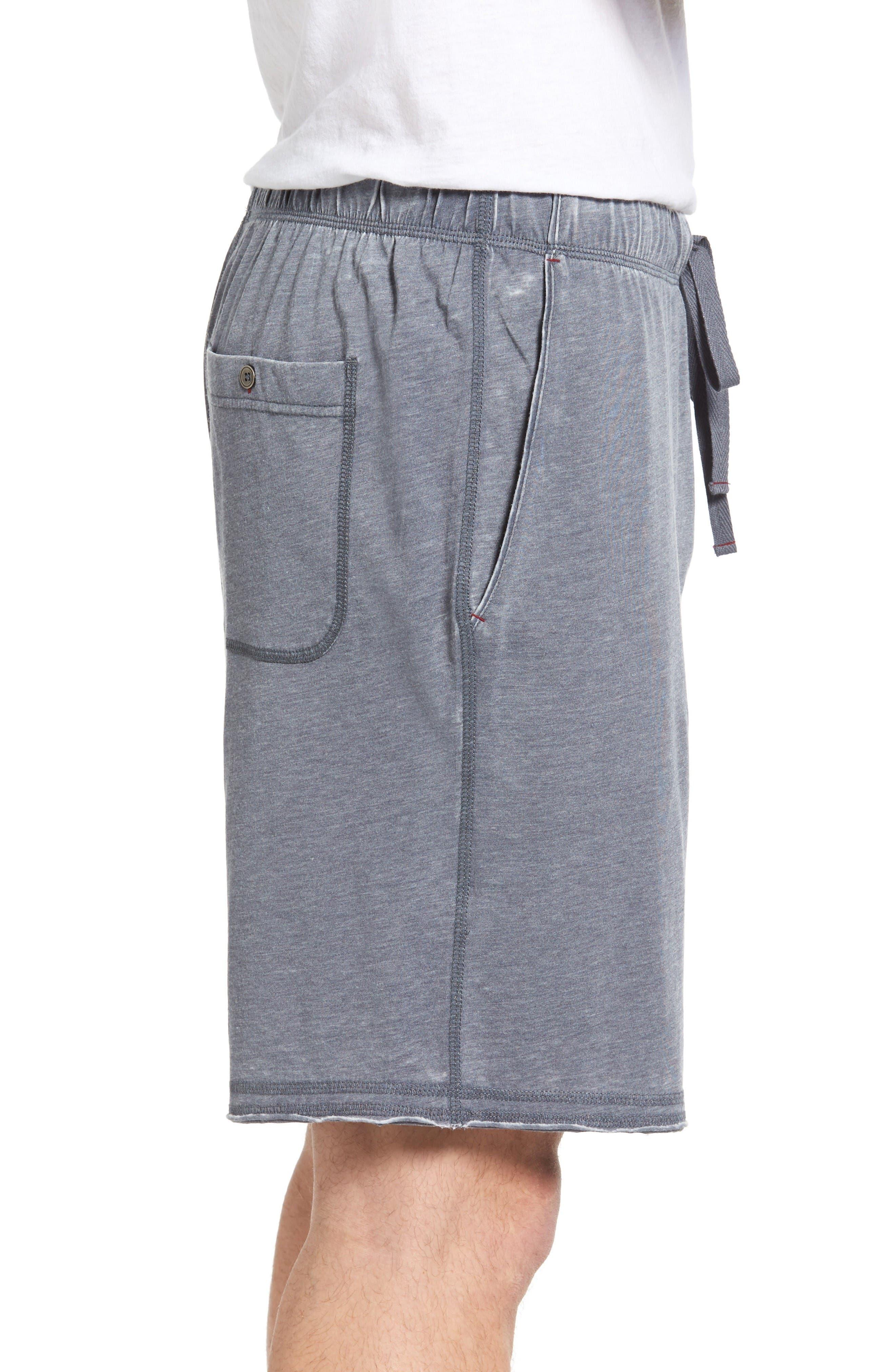 Burnout Lounge Shorts,                             Alternate thumbnail 3, color,                             Charcoal