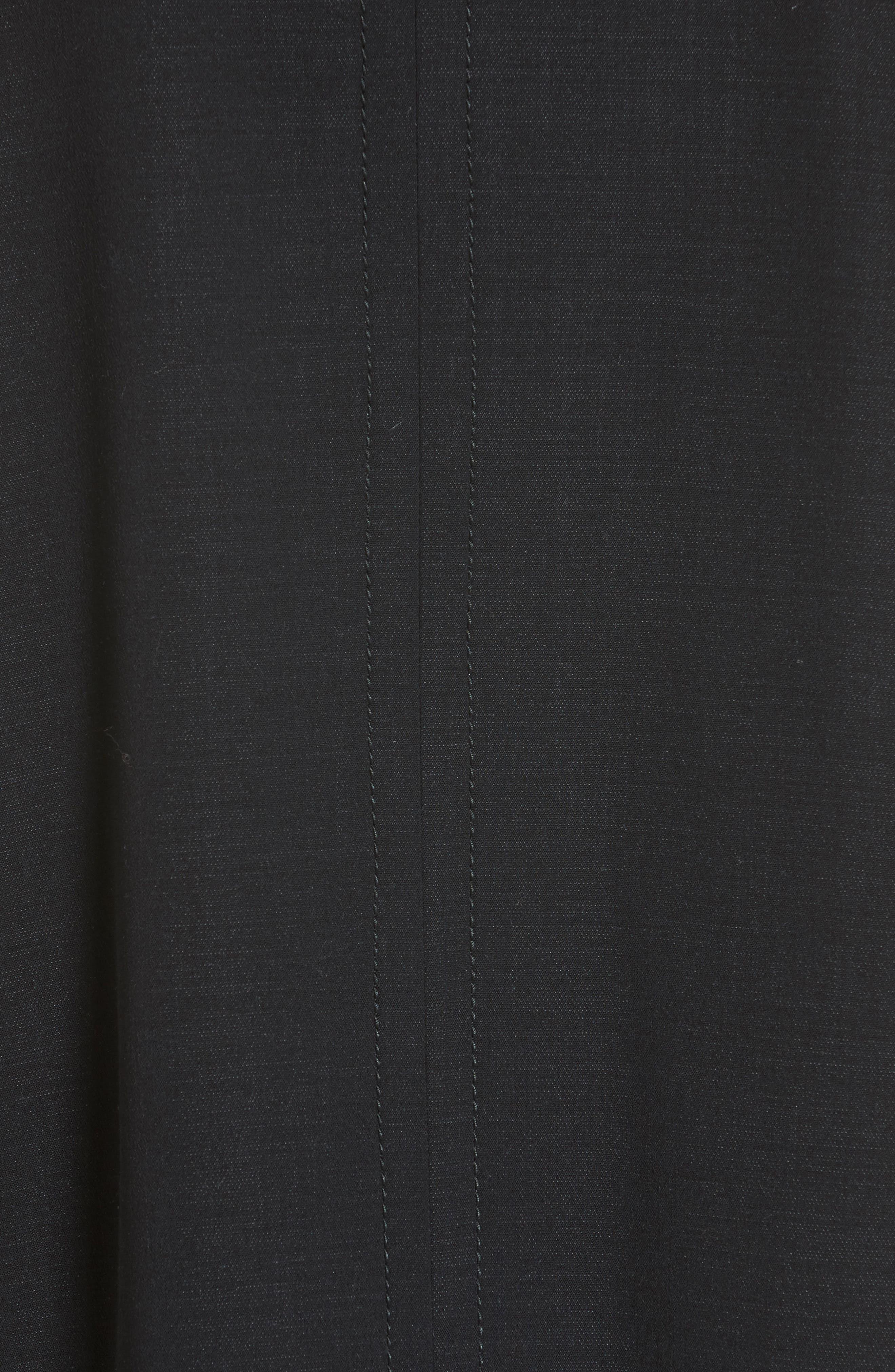 Marcelline Topstitch Double Face Wool Coat,                             Alternate thumbnail 3, color,                             Black/ Mistletoe