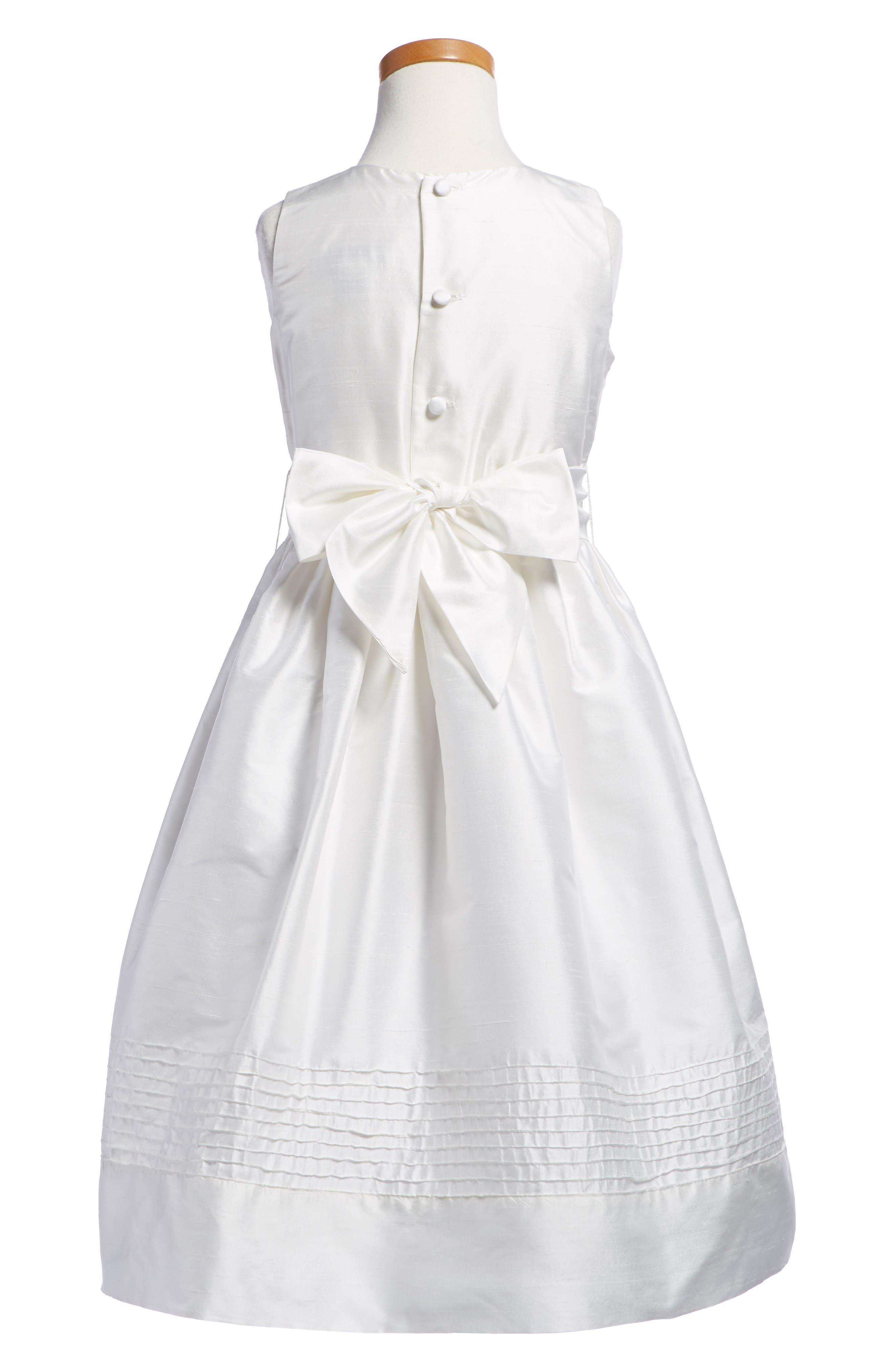 Timeless Silk Dress,                             Alternate thumbnail 2, color,                             White
