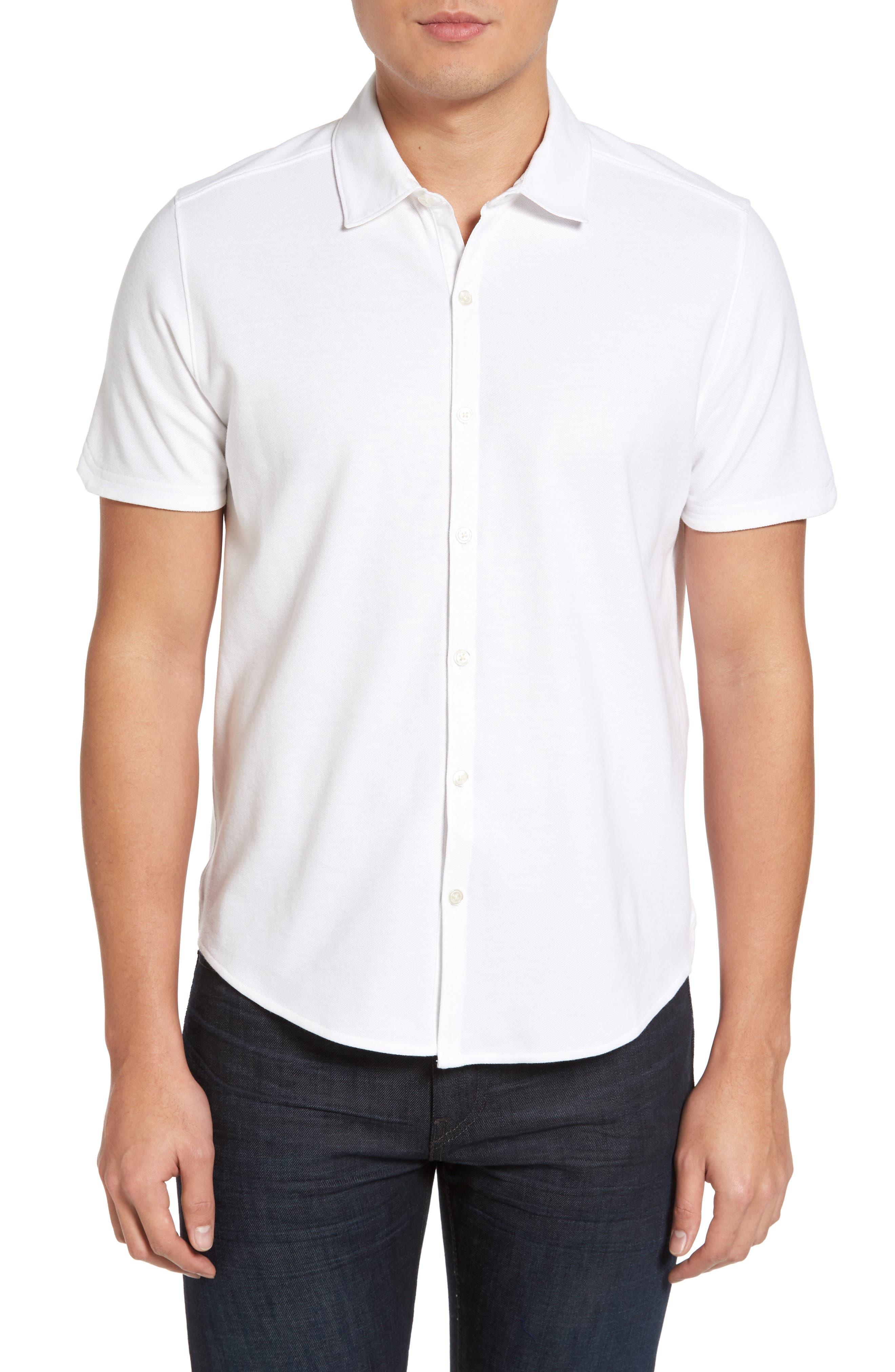 Palmetto Pima Cotton Shirt,                         Main,                         color, White