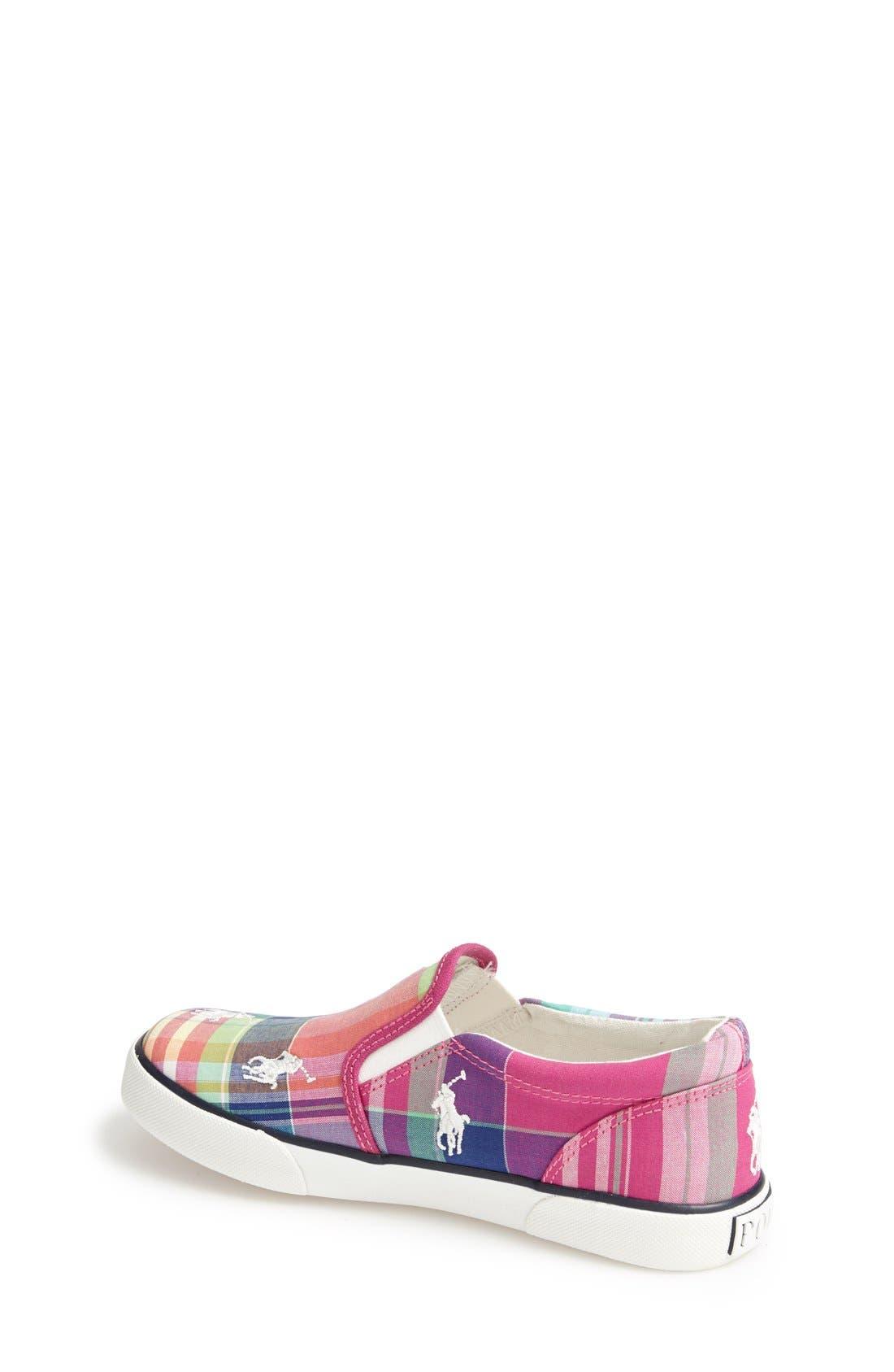 Alternate Image 2  - Ralph Lauren Plaid Sneaker (Baby, Walker, Toddler & Little Kid)