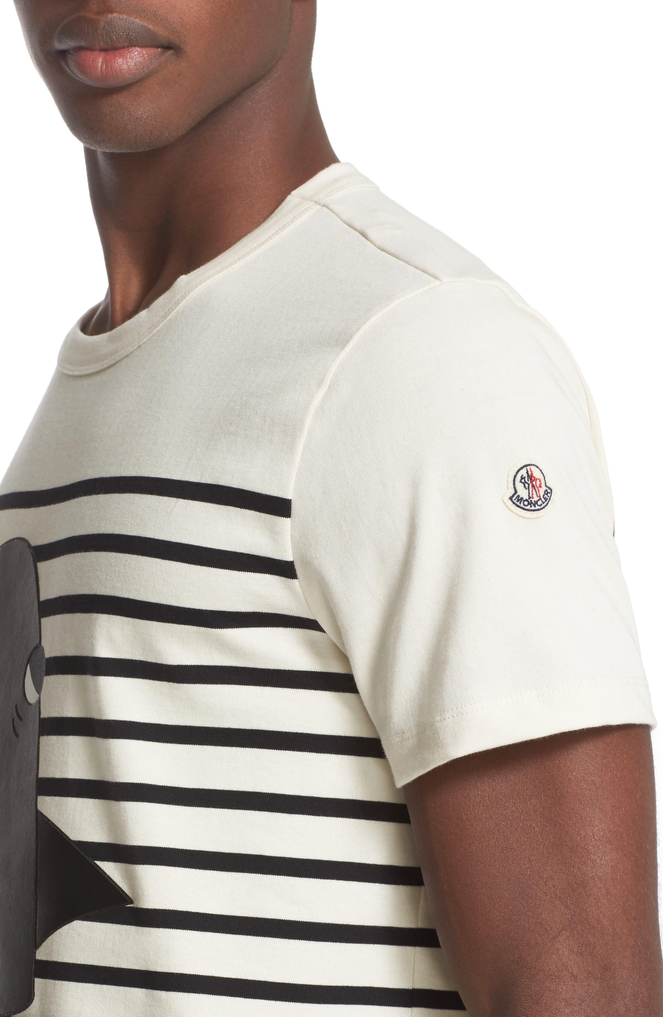Alternate Image 4  - Moncler Stripe Graphic T-Shirt