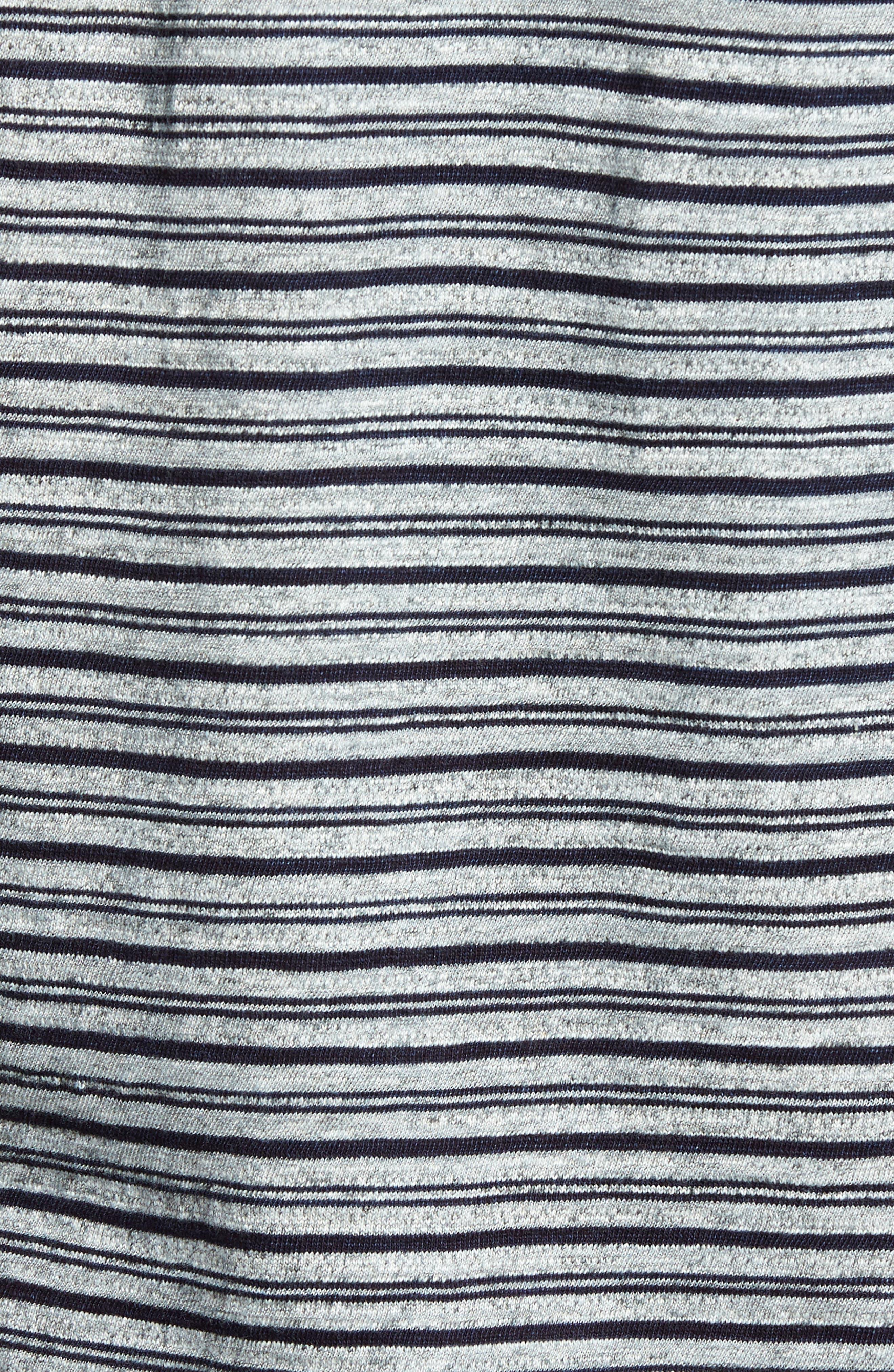 Stripe Ringer T-Shirt,                             Alternate thumbnail 5, color,                             Indigo