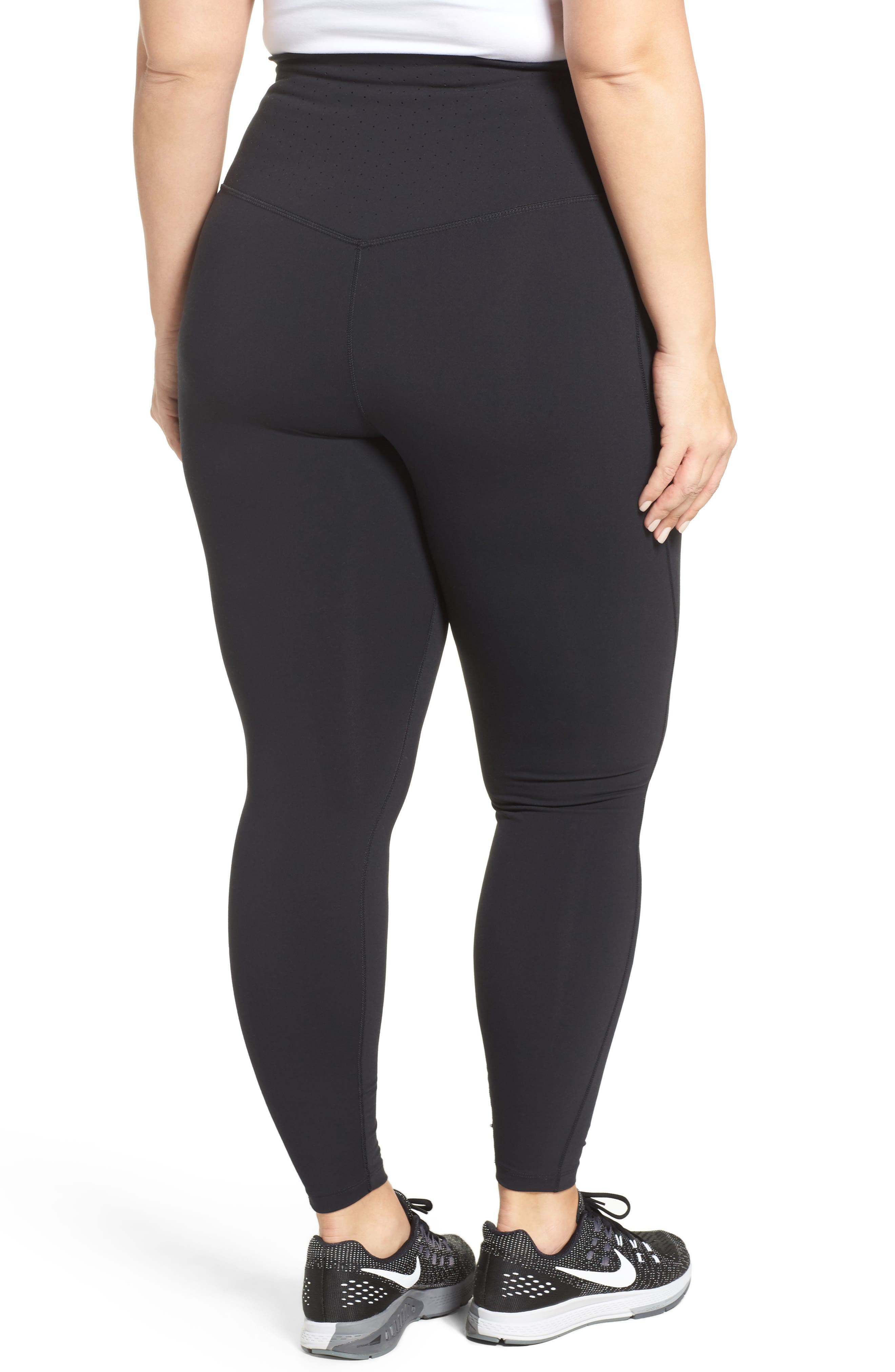 Alternate Image 2  - Nike Power Legendary High Waist Tights (Plus Size)