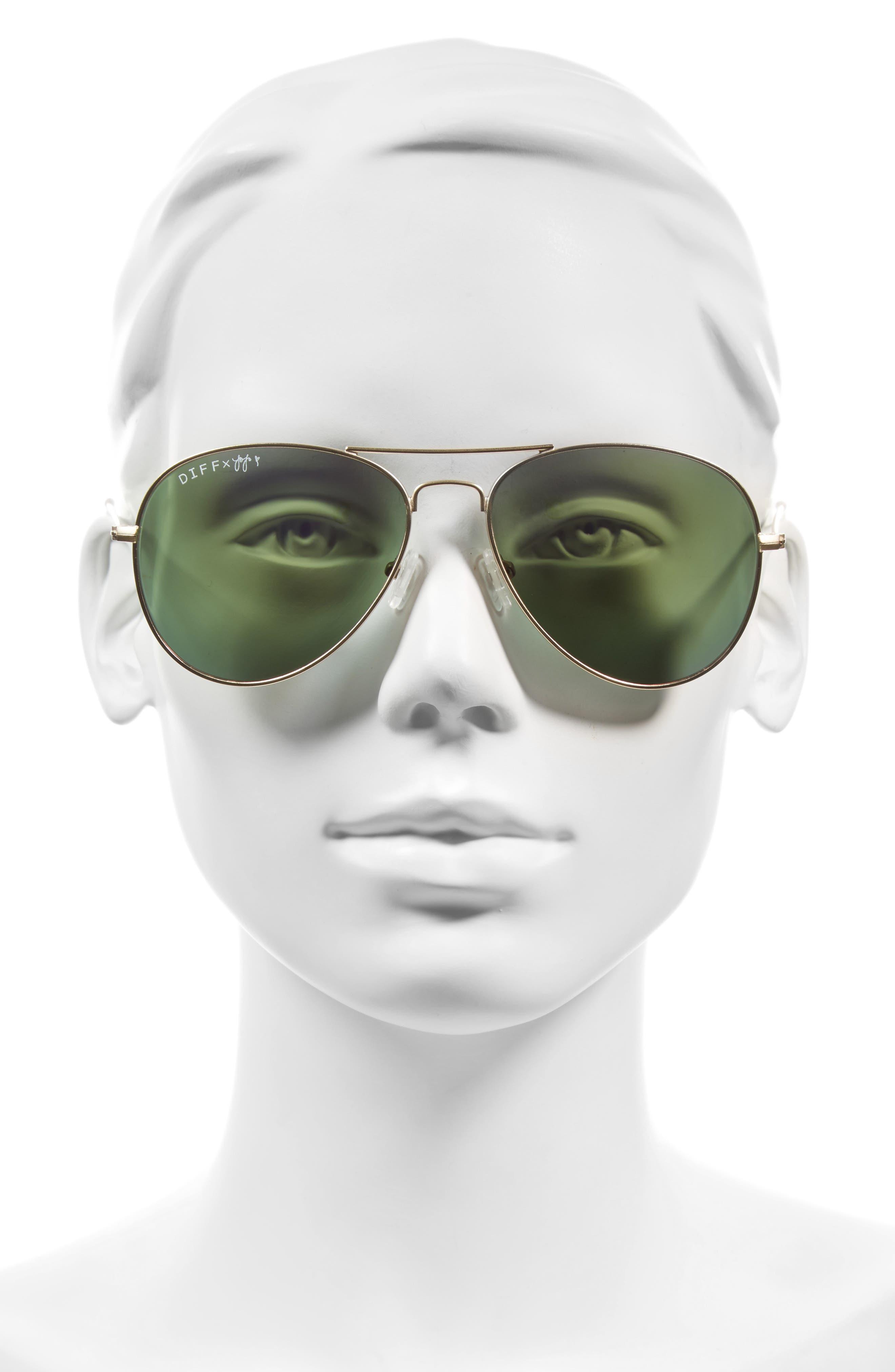 Alternate Image 5  - DIFF x JoJo Cruz Edition 57mm Aviator Sunglasses