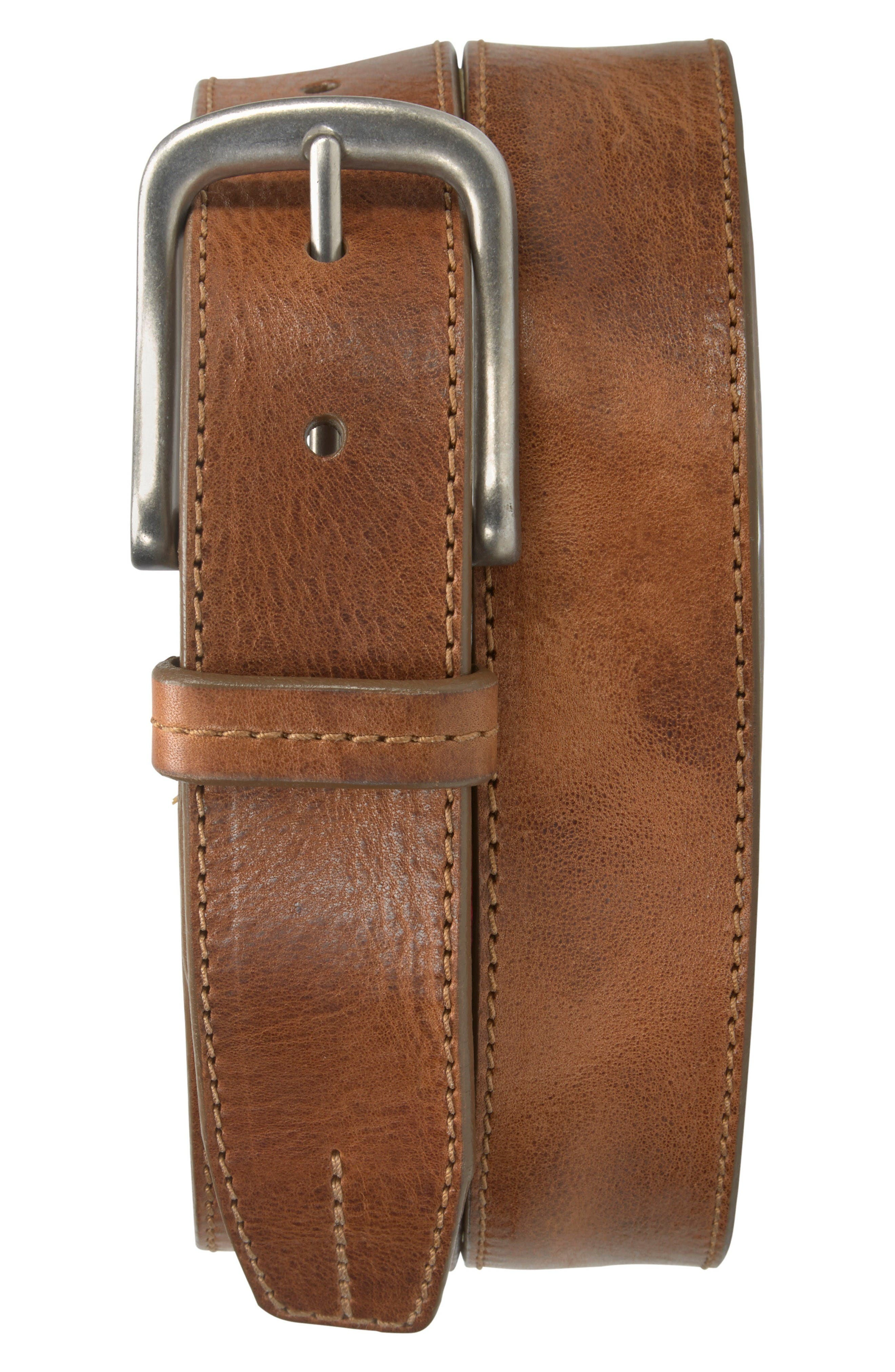 Leather Belt,                             Main thumbnail 1, color,                             Tan