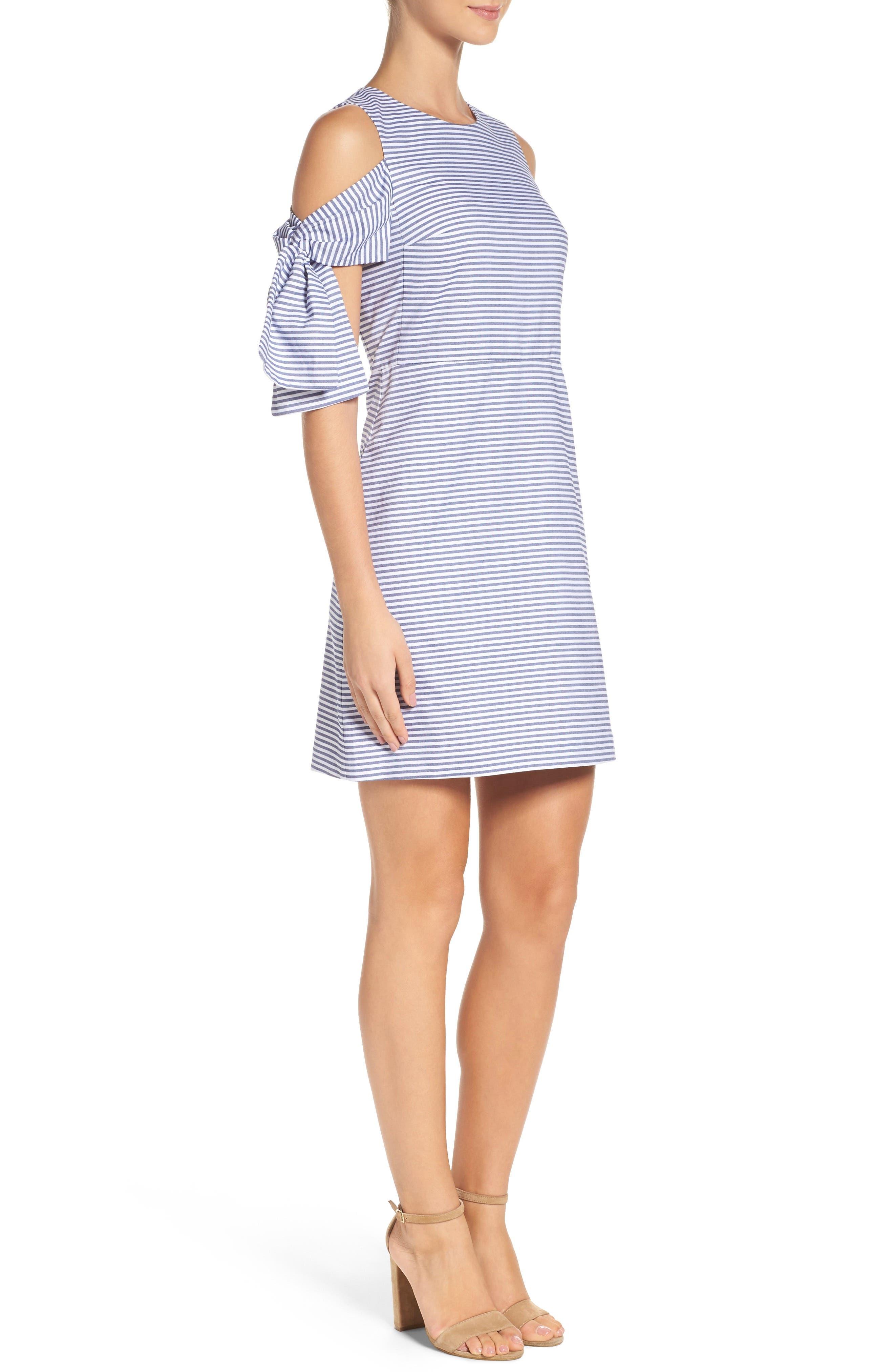 Alternate Image 3  - Chelsea28 Cold Shoulder Shift Dress