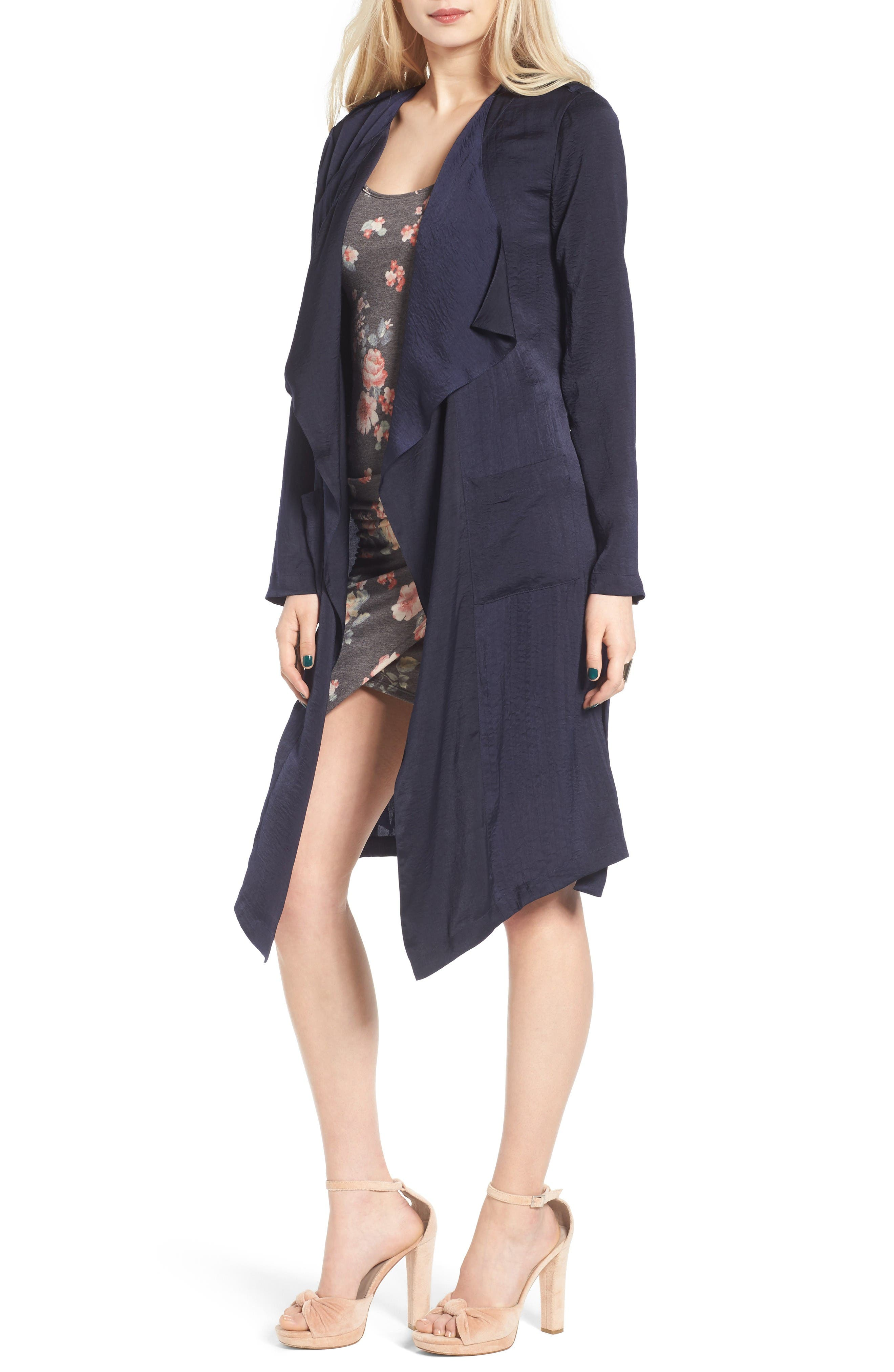 Alternate Image 1 Selected - Leith Satin Trench Coat