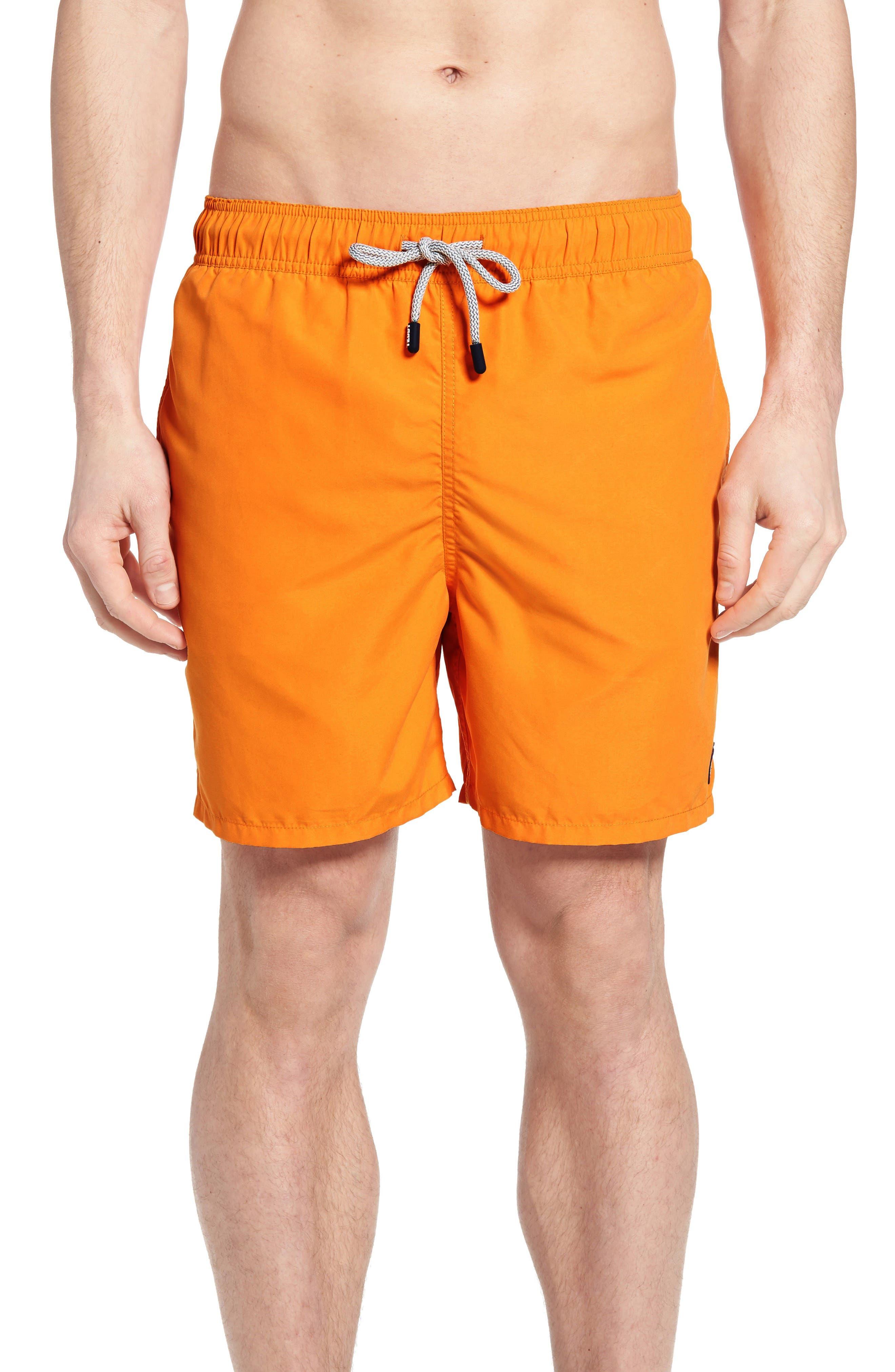 Swim Trunks,                             Main thumbnail 1, color,                             Baked Orange