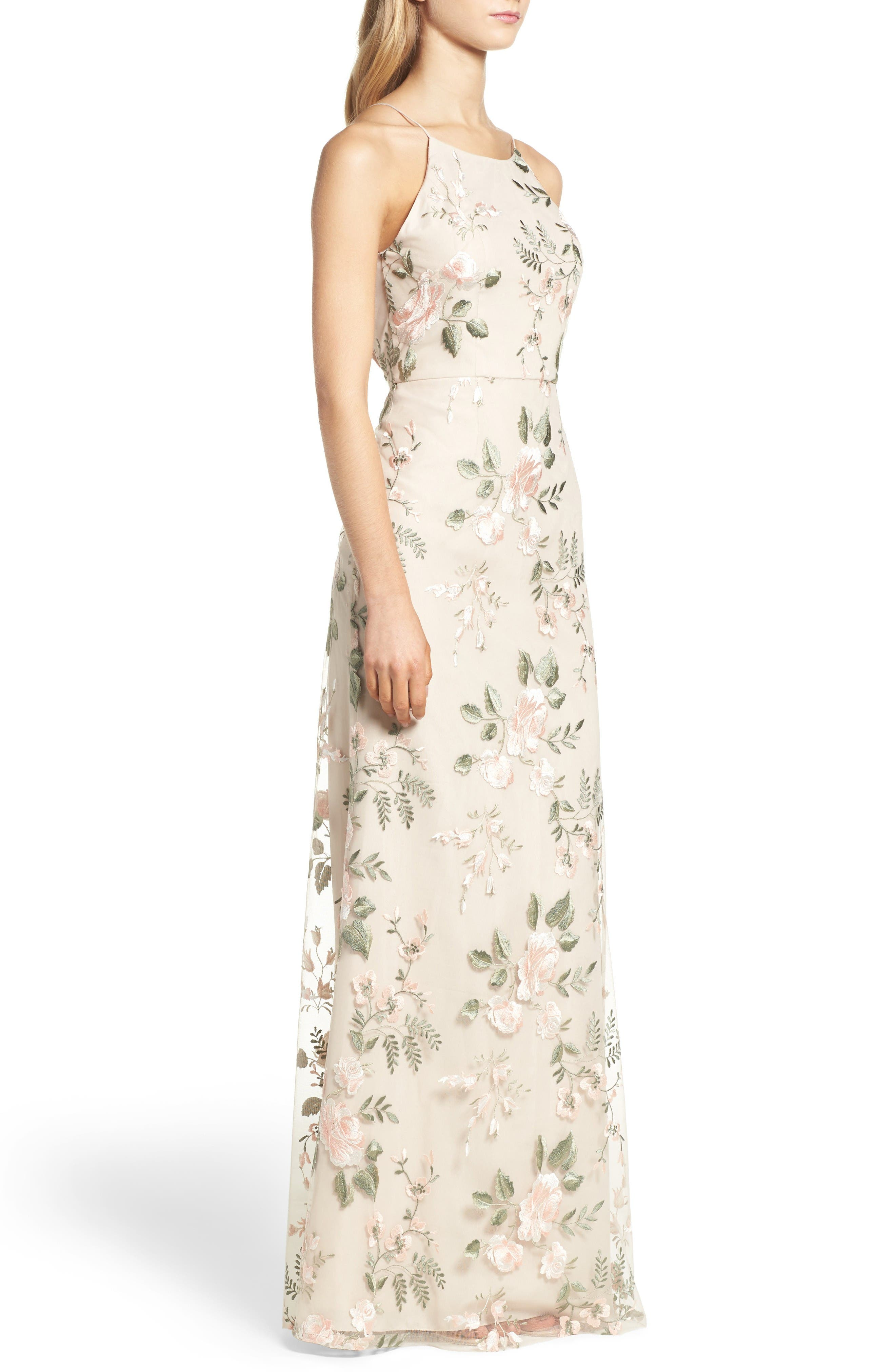 Alternate Image 3  - Jenny Yoo Claire Floral Embroidered Gown