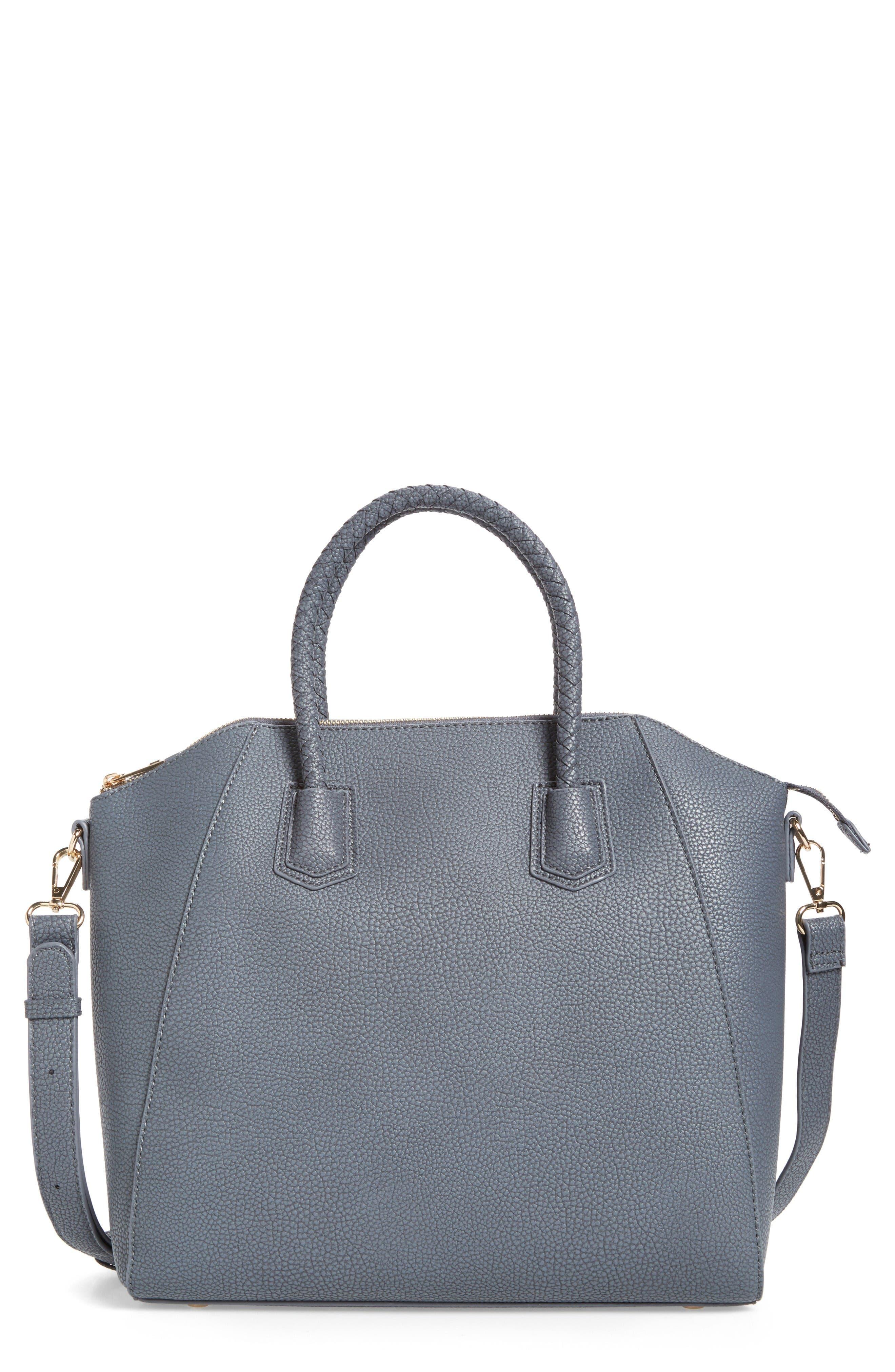 Main Image - Sole Society Giada Braided Faux Leather Satchel