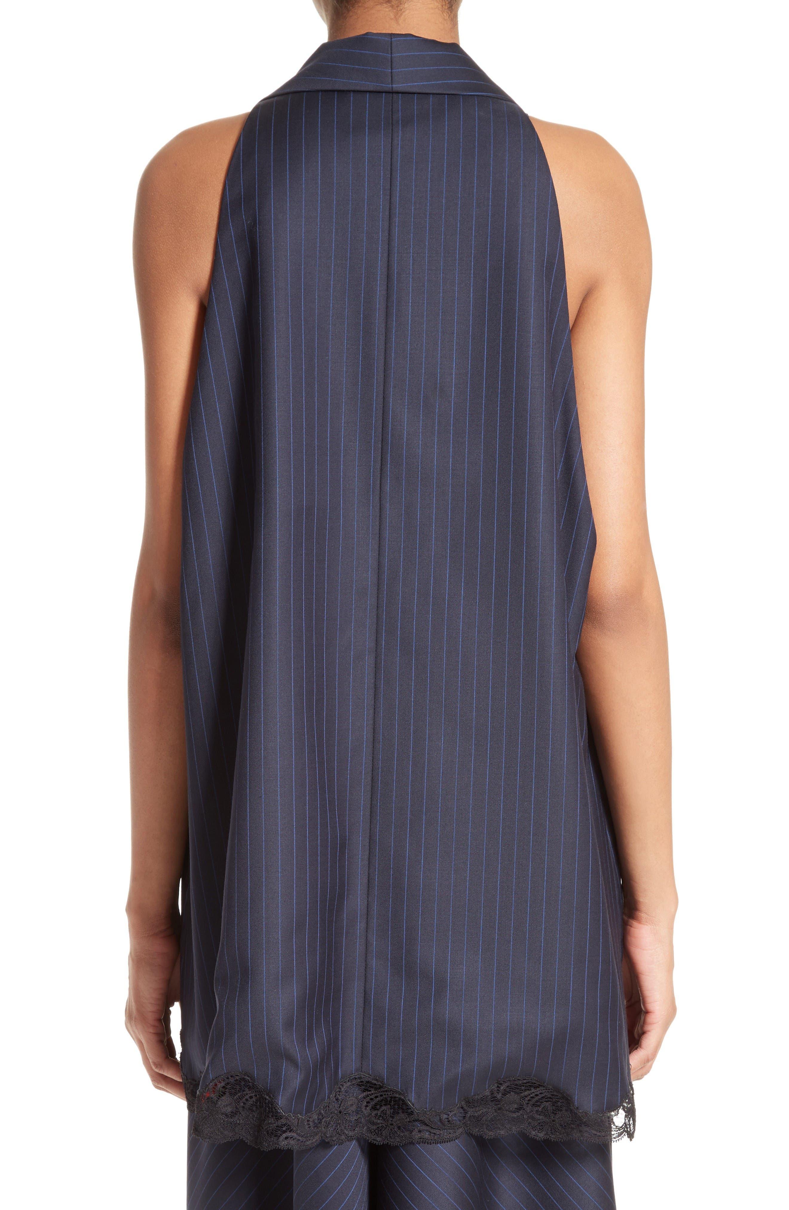 Alternate Image 2  - Alexander Wang Lace Trim Pinstripe Vest