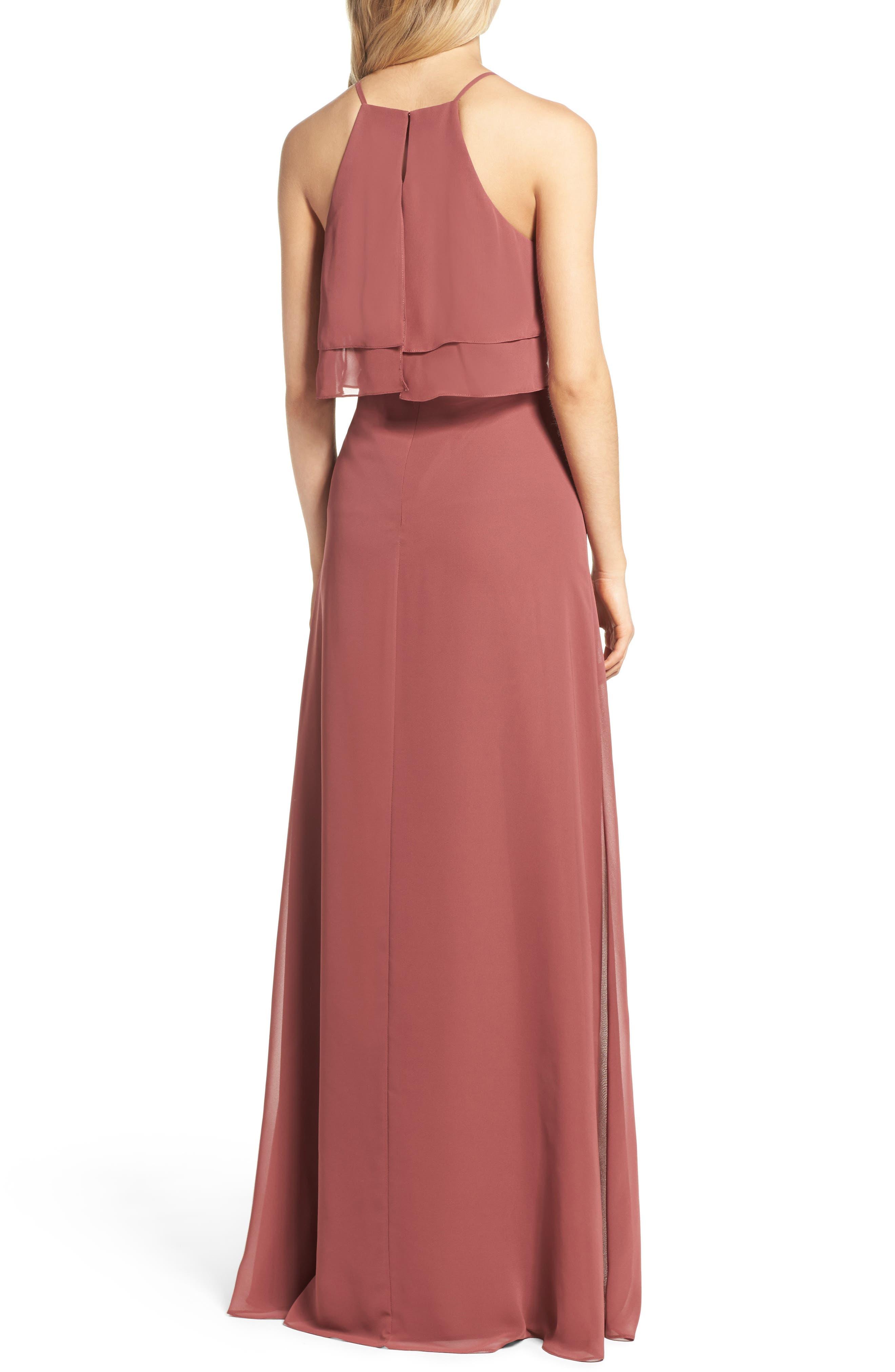 Alternate Image 2  - Jenny Yoo Charlie Ruffle Bodice Gown