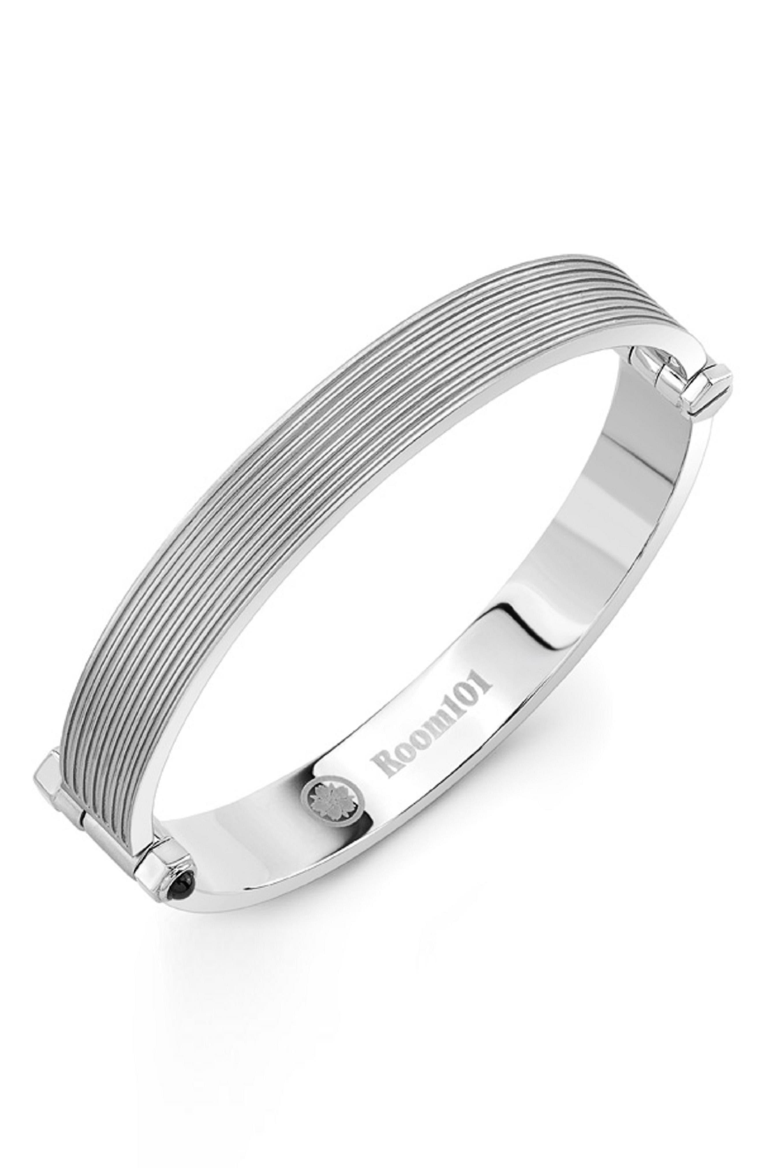 Stainless Steel Bracelet,                             Main thumbnail 1, color,                             Silver