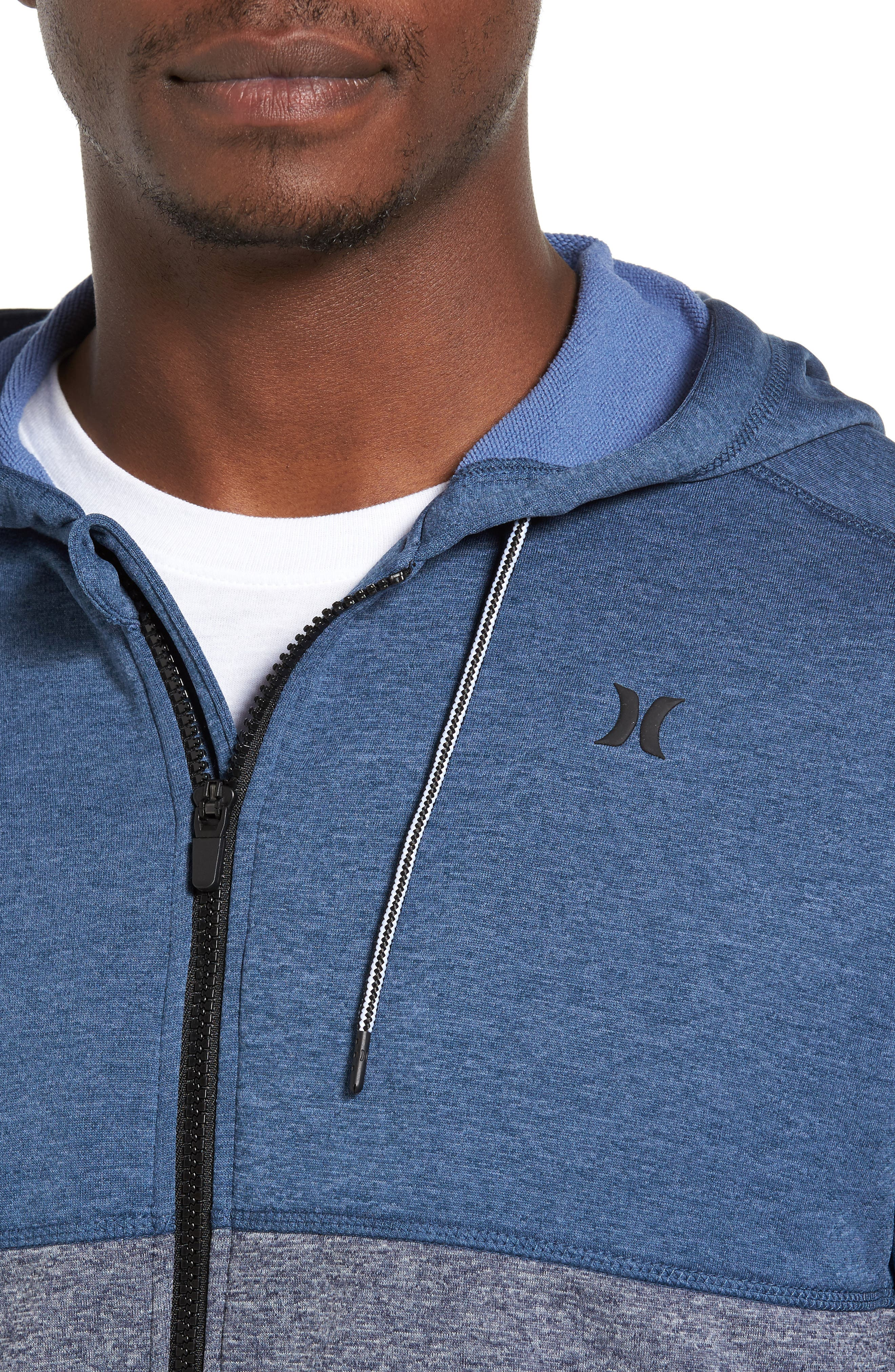 Dri-FIT Disperse Colorblock Zip Hoodie,                             Alternate thumbnail 4, color,                             Squadron B