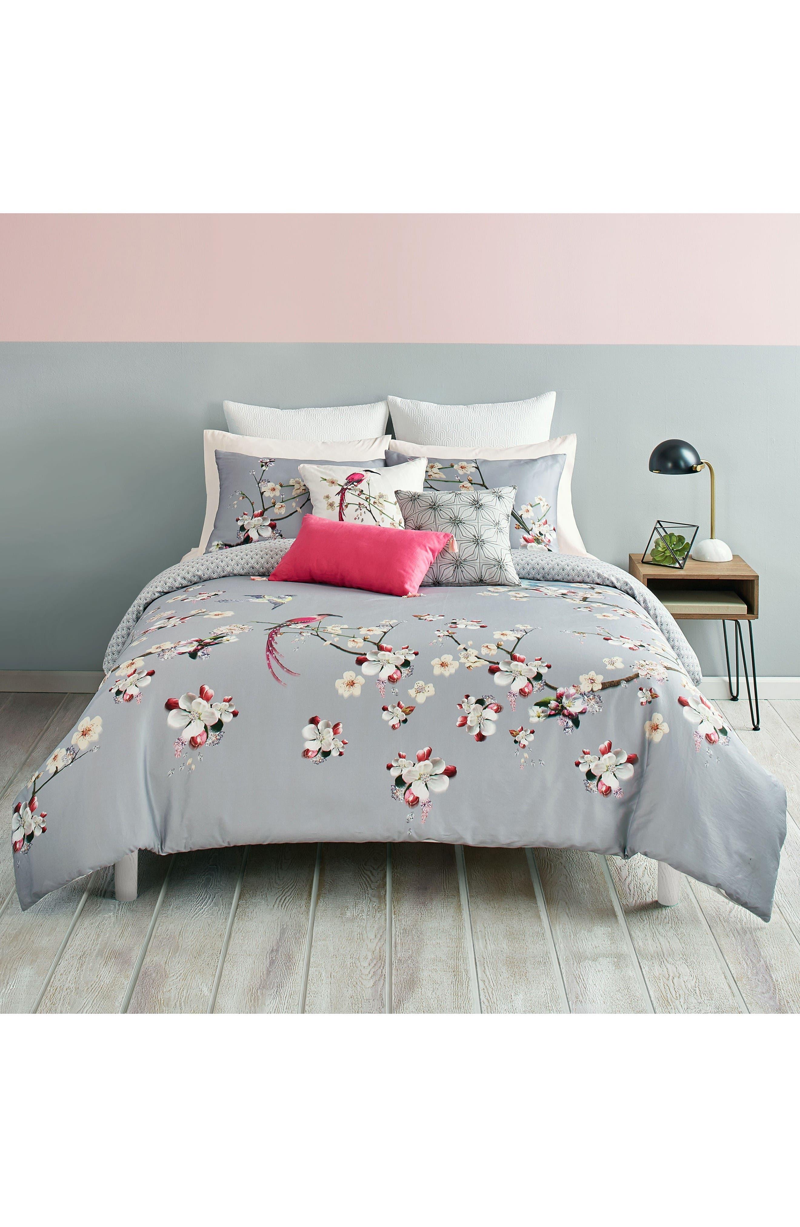 Flight Comforter & Sham Set,                         Main,                         color, Grey/ Multi