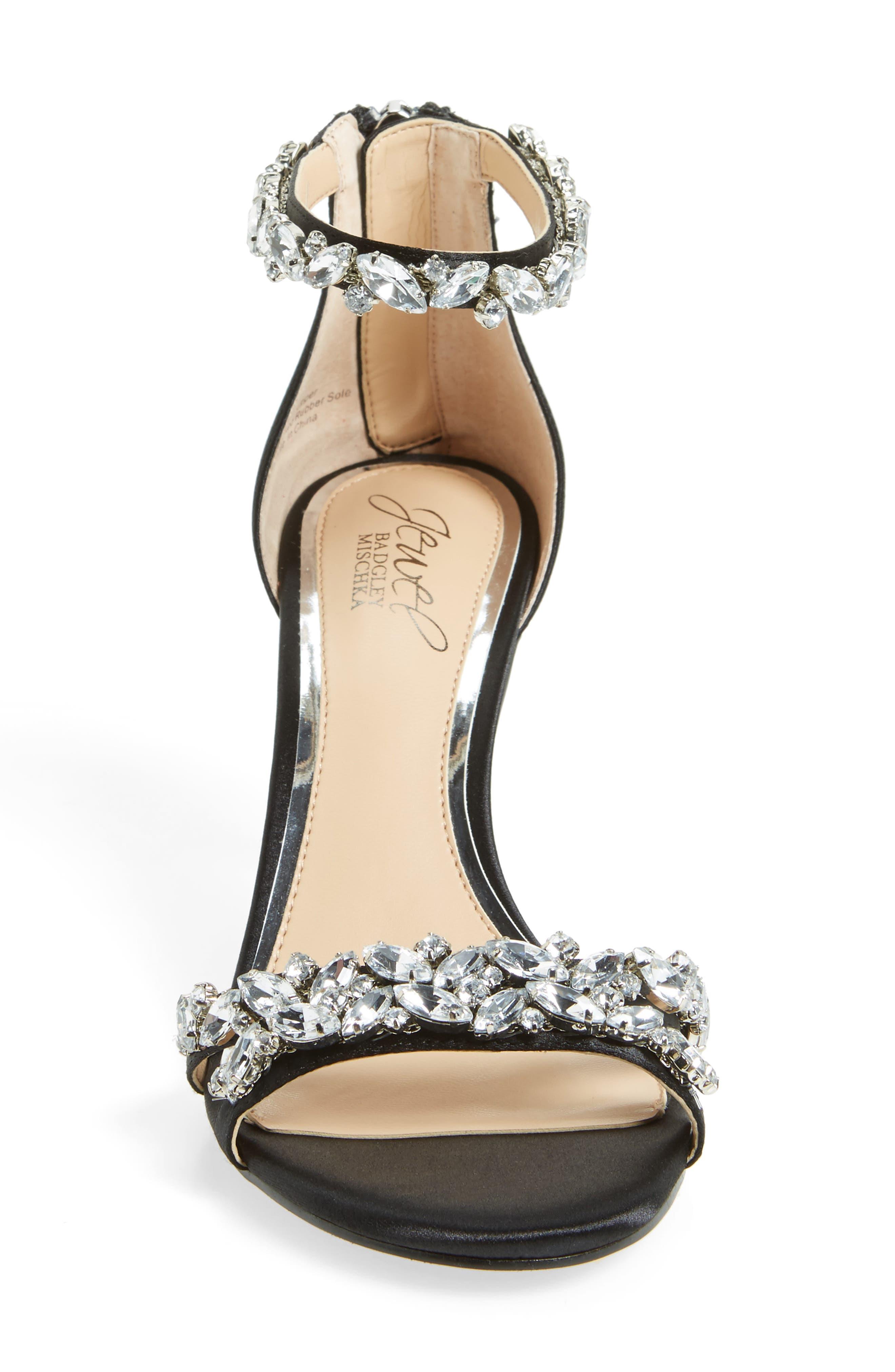 Alternate Image 3  - Jewel Badgley Mischka Caroline Embellished Sandal (Women)