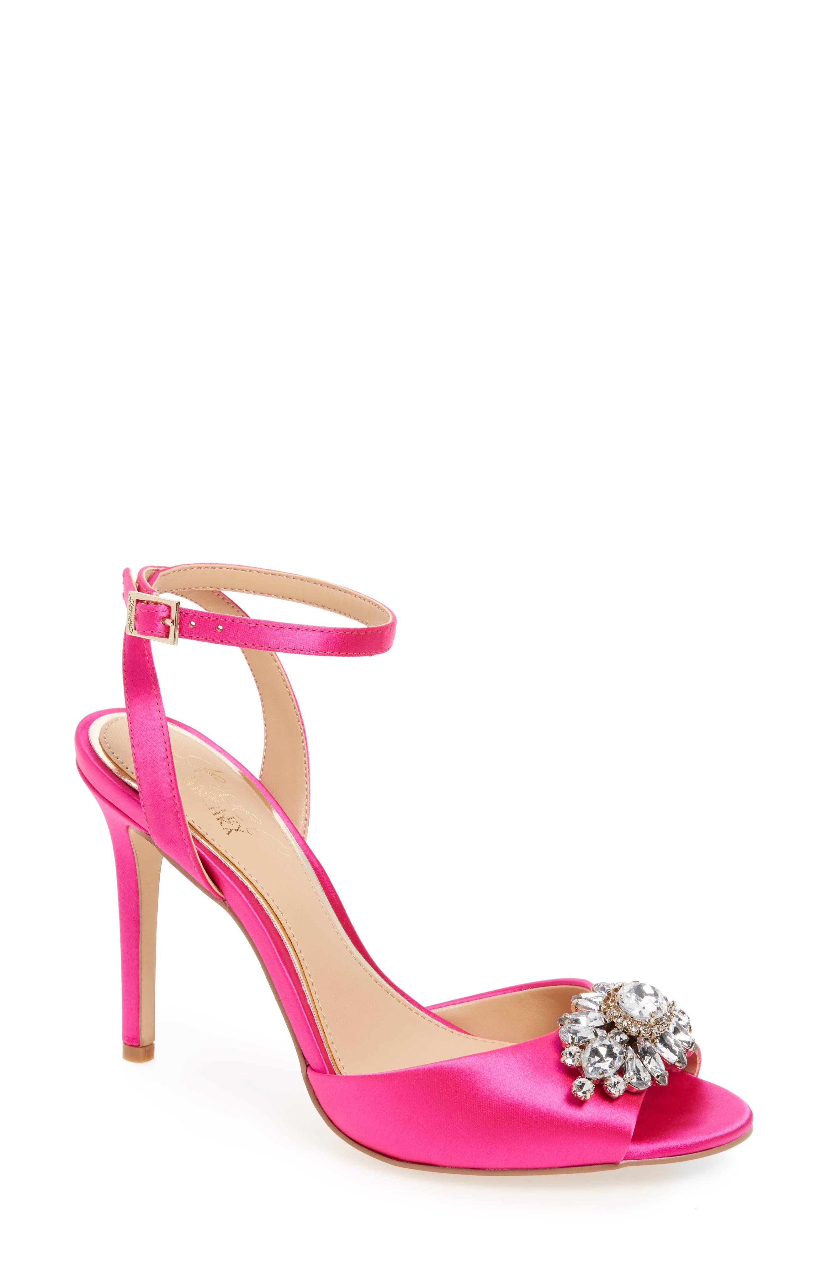 Alternate Image 1 Selected - Jewel Badgley Mischka Hayden Embellished Ankle Strap Sandal (Women)