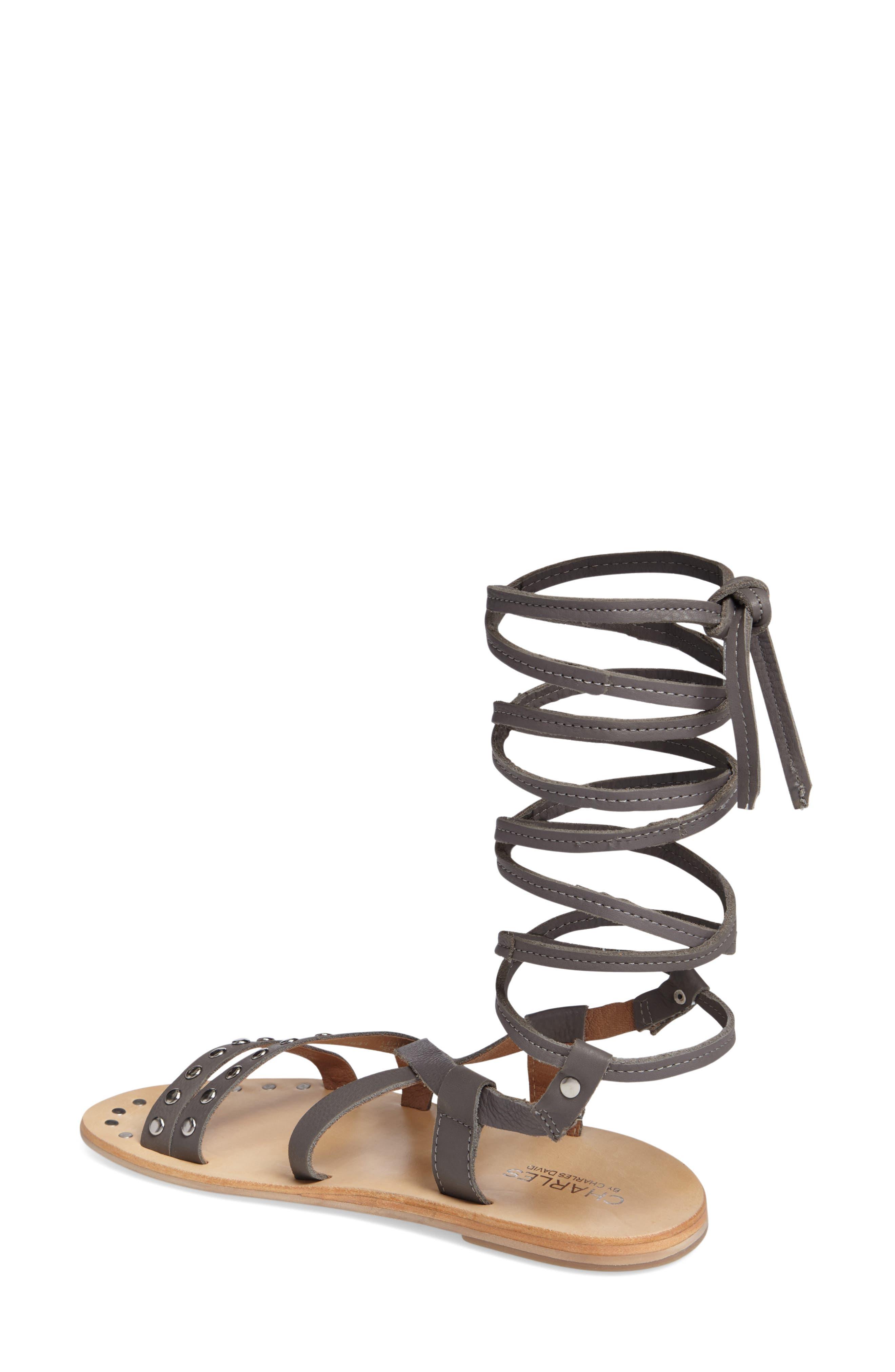 Alternate Image 2  - Charles by Charles David Steeler Ankle Wrap Sandal (Women)