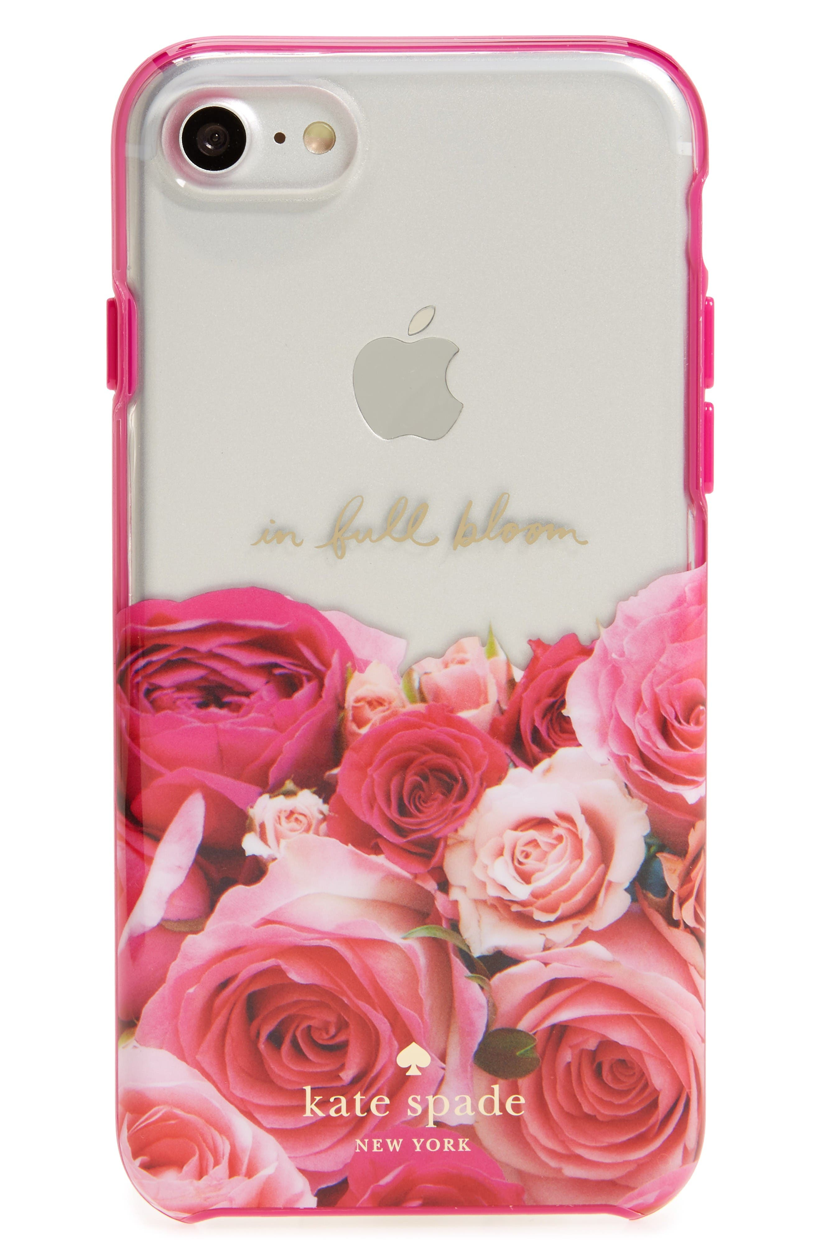 in full bloom iPhone 7 case,                         Main,                         color, Pink Multi
