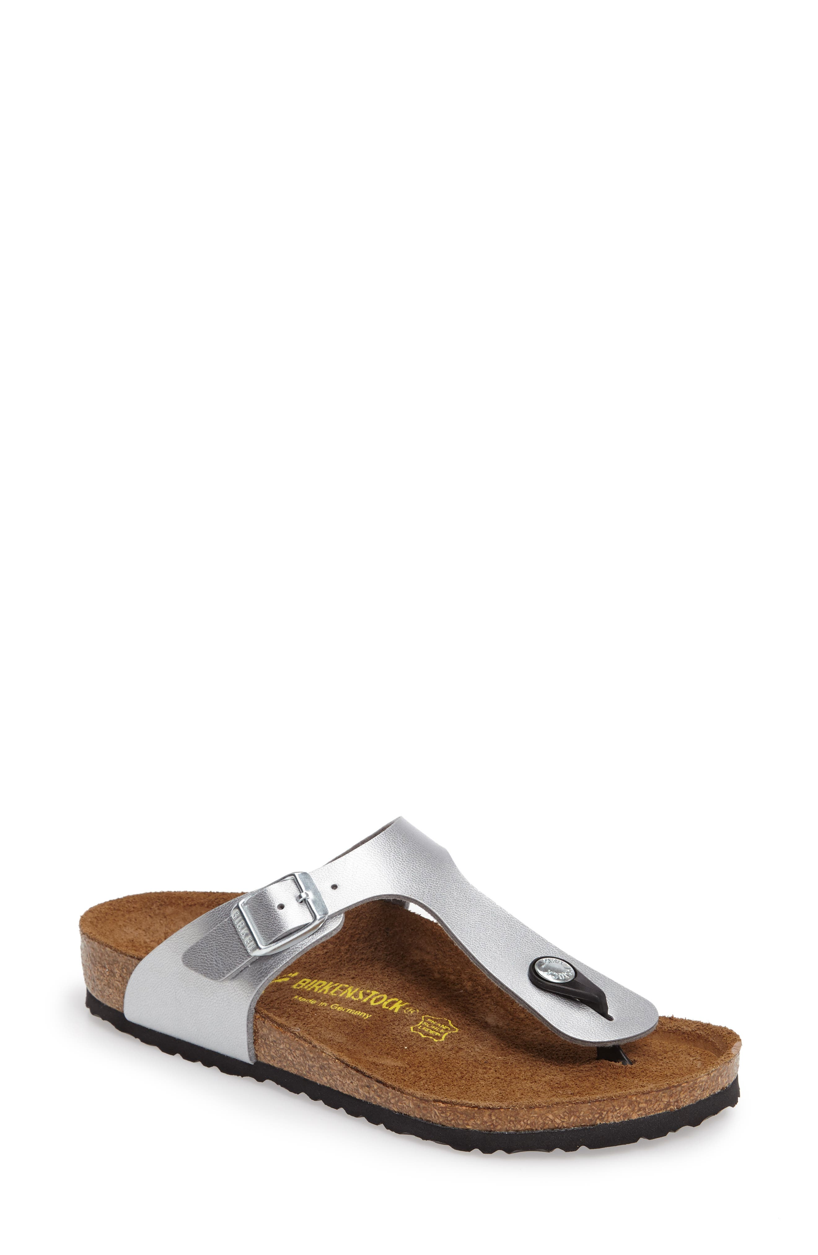 Gizeh Sandal,                         Main,                         color, Silver
