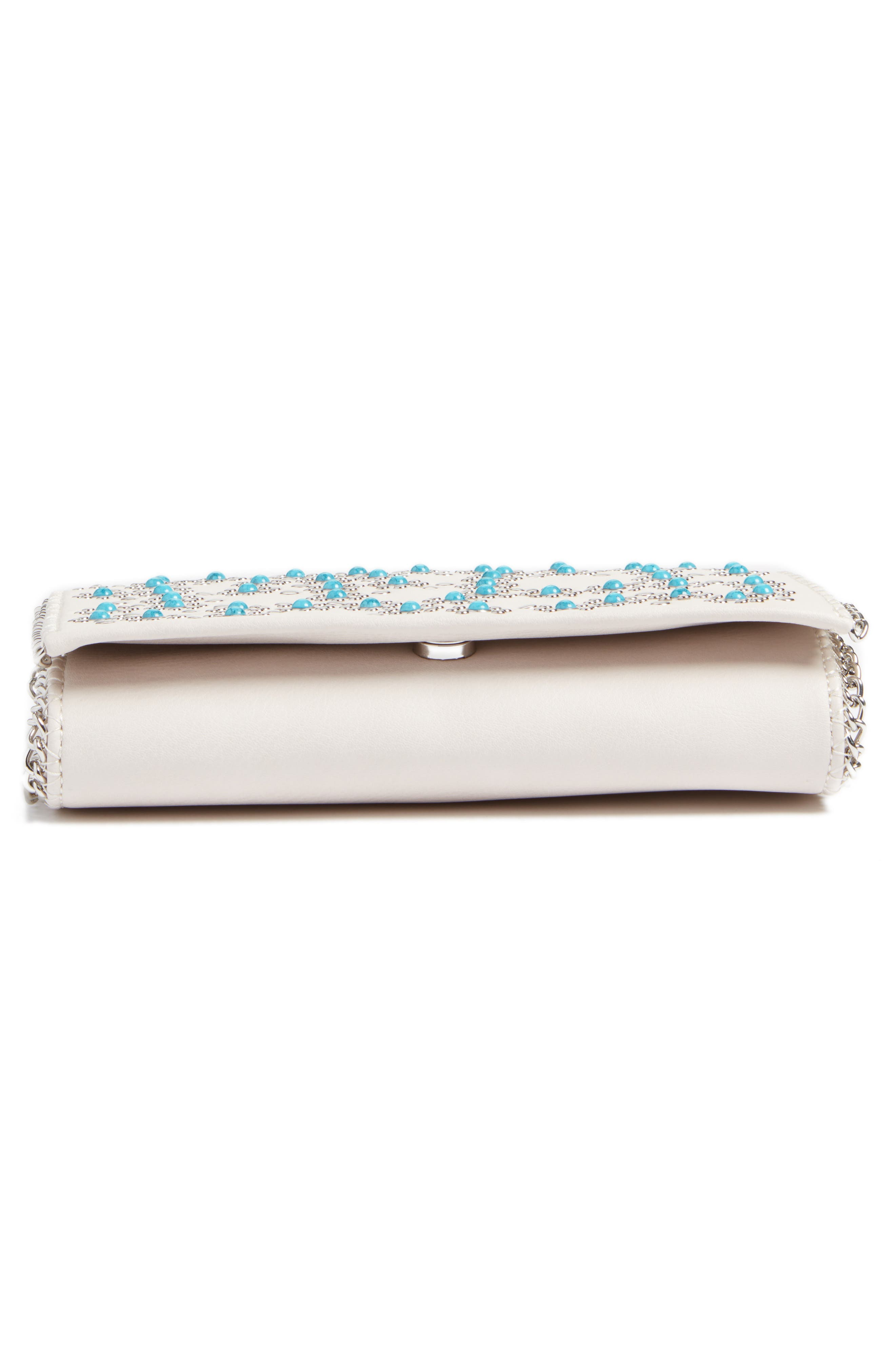 Alternate Image 6  - Chelsea28 Embellished Faux Leather Convertible Clutch