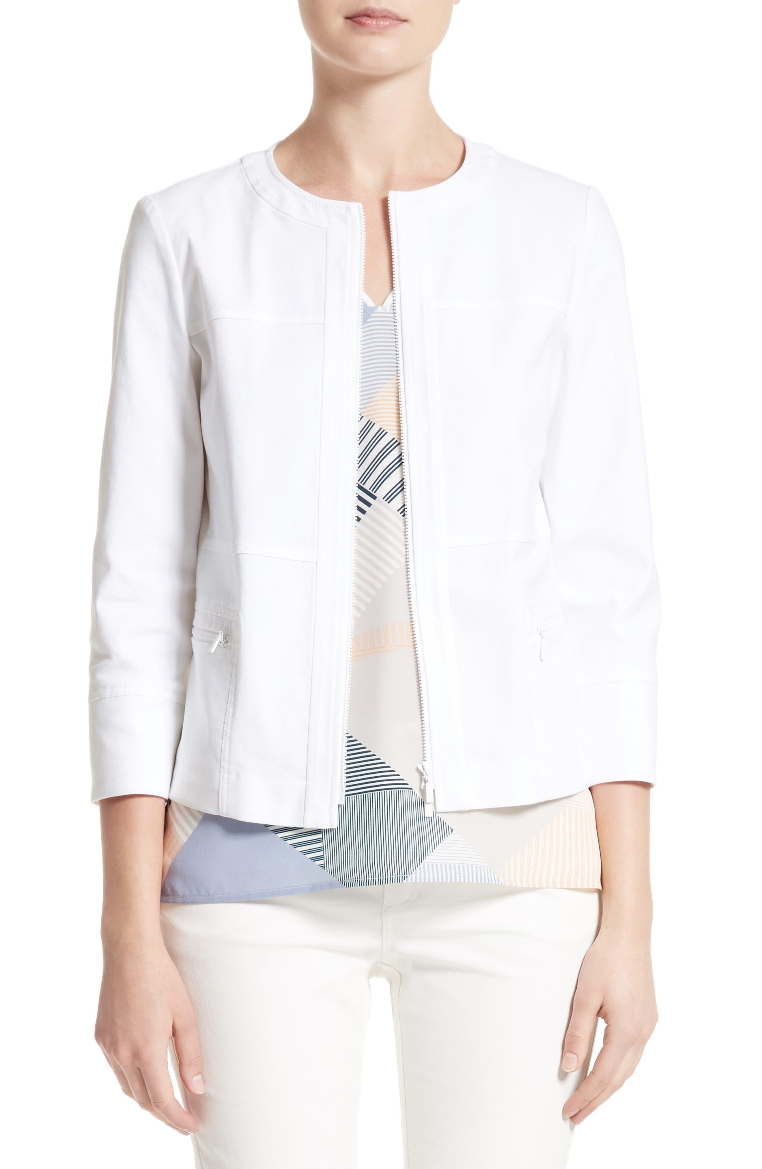 Deb Stretch Canvas Jacket,                         Main,                         color, White