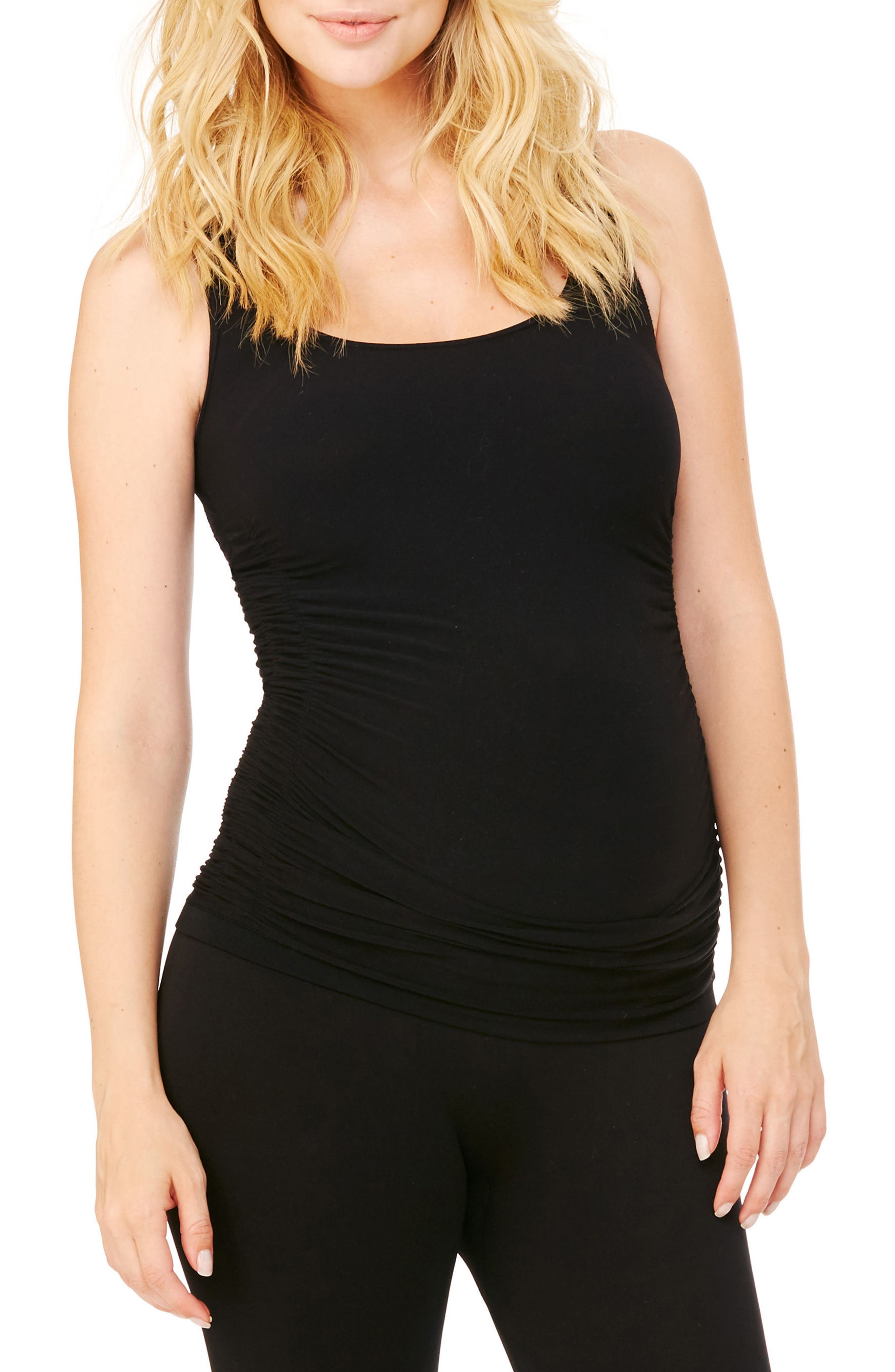 Ingrid & Isabel® Seamless Ruched Maternity Tank