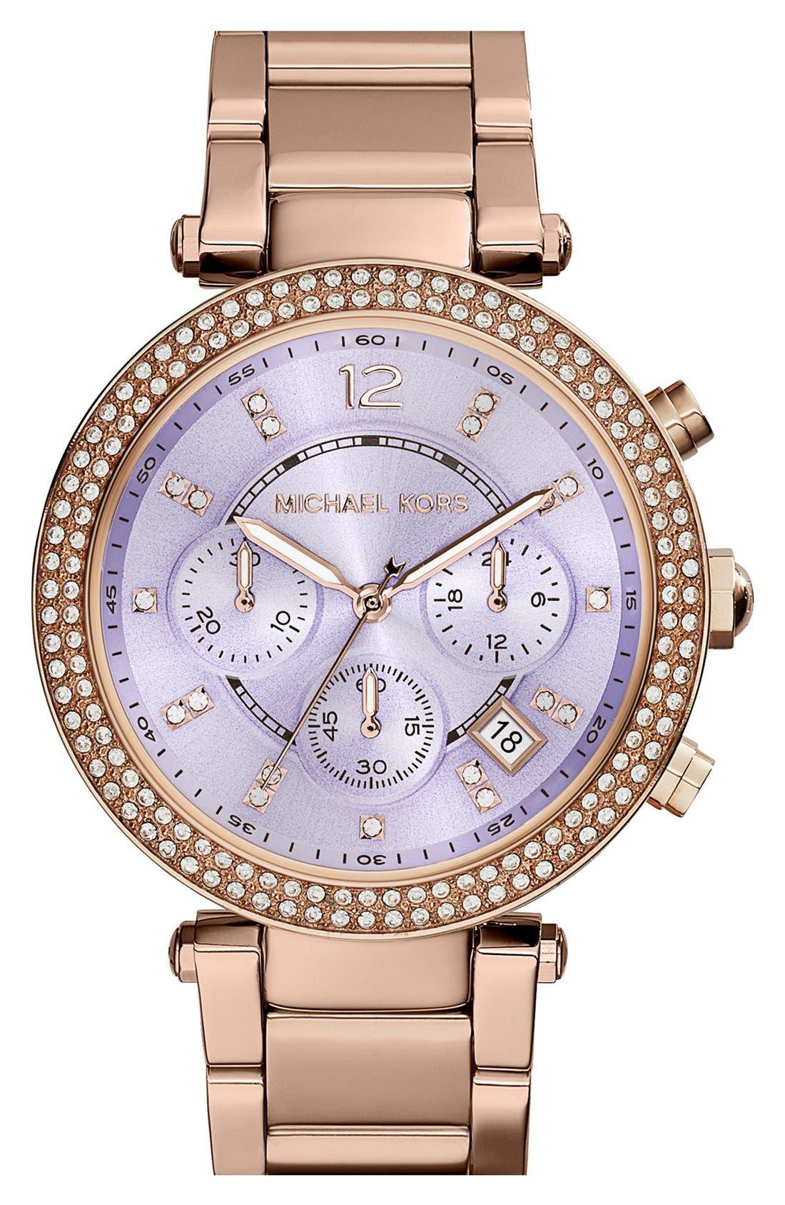 Alternate Image 1 Selected - Michael Kors 'Parker' Chronograph Bracelet Watch, 39mm