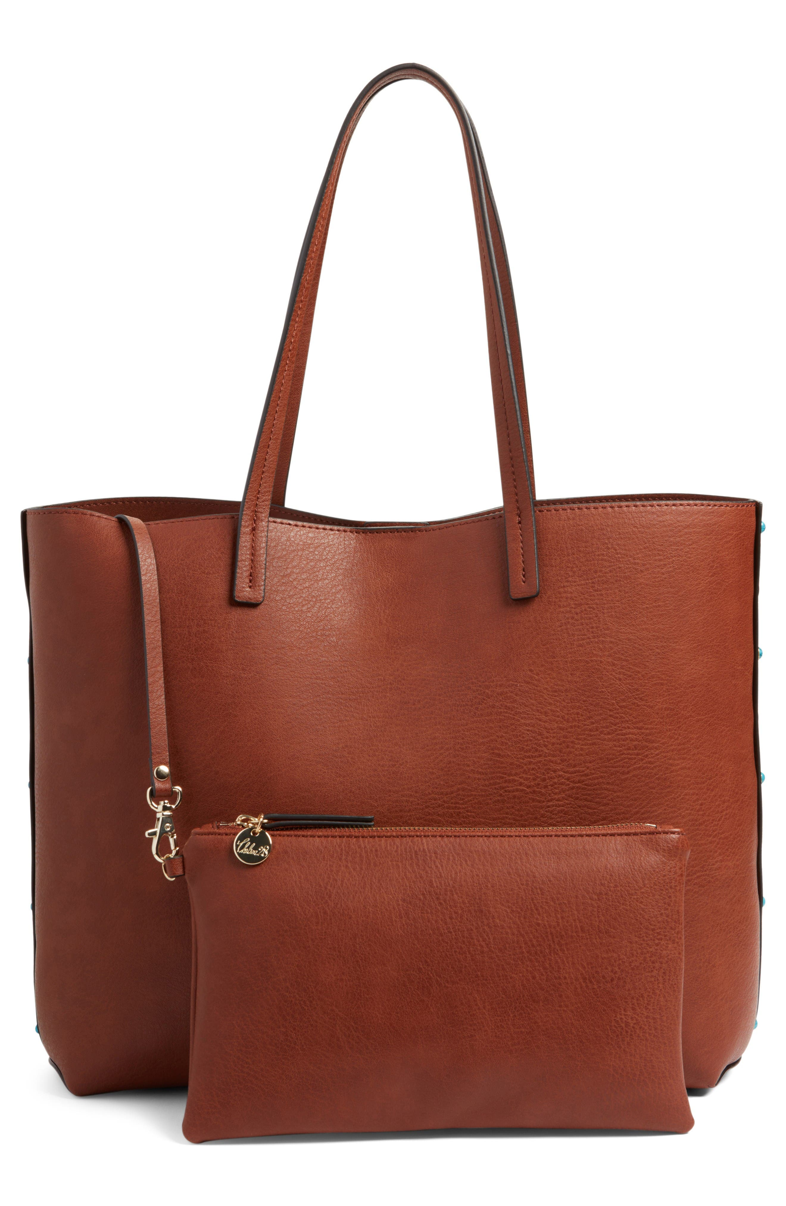 Alternate Image 3  - Chelsea28 Olivia Faux Leather Tote