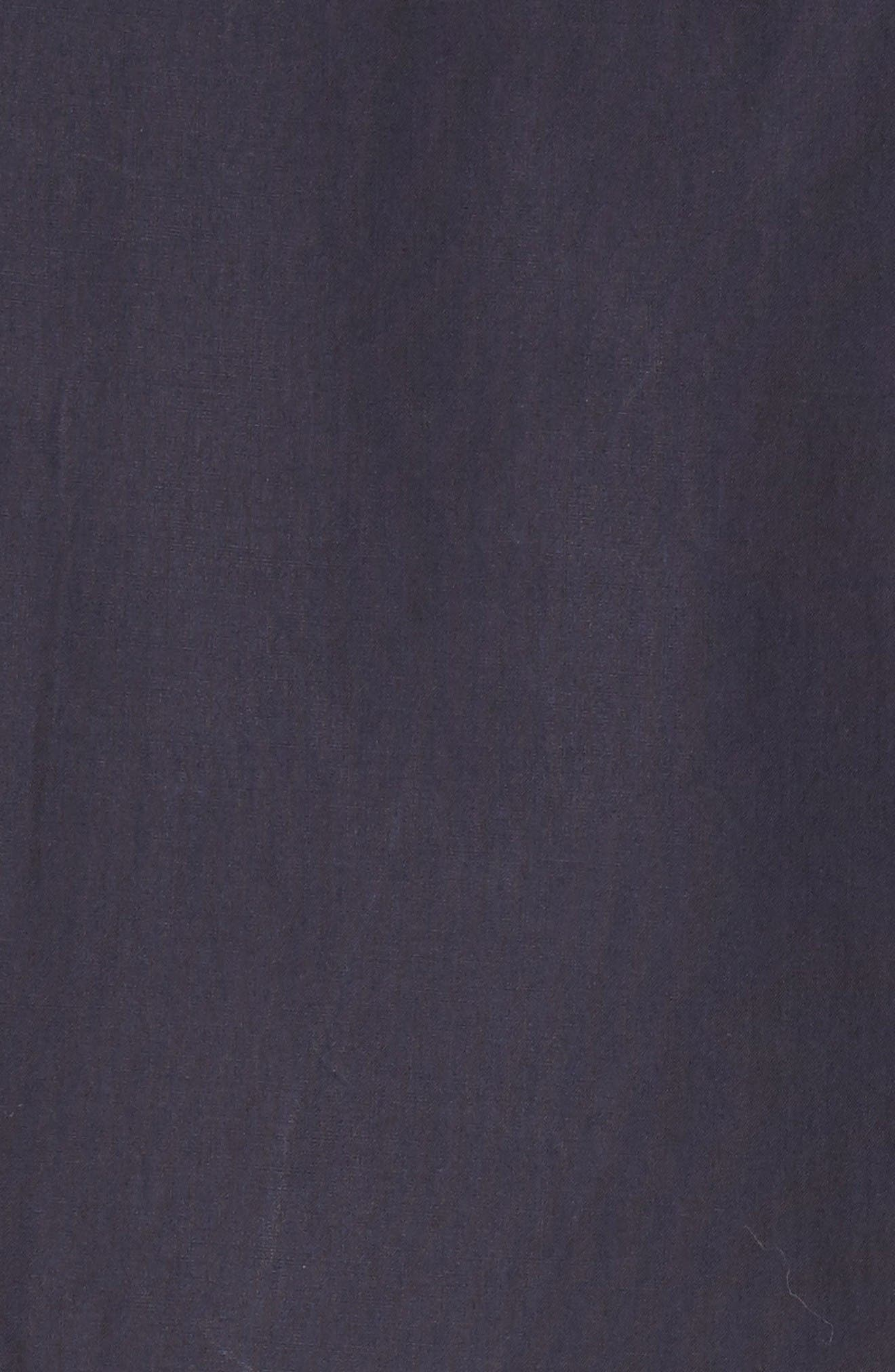 Andreas Extra Trim Fit Sport Shirt,                             Alternate thumbnail 5, color,                             Dark Navy
