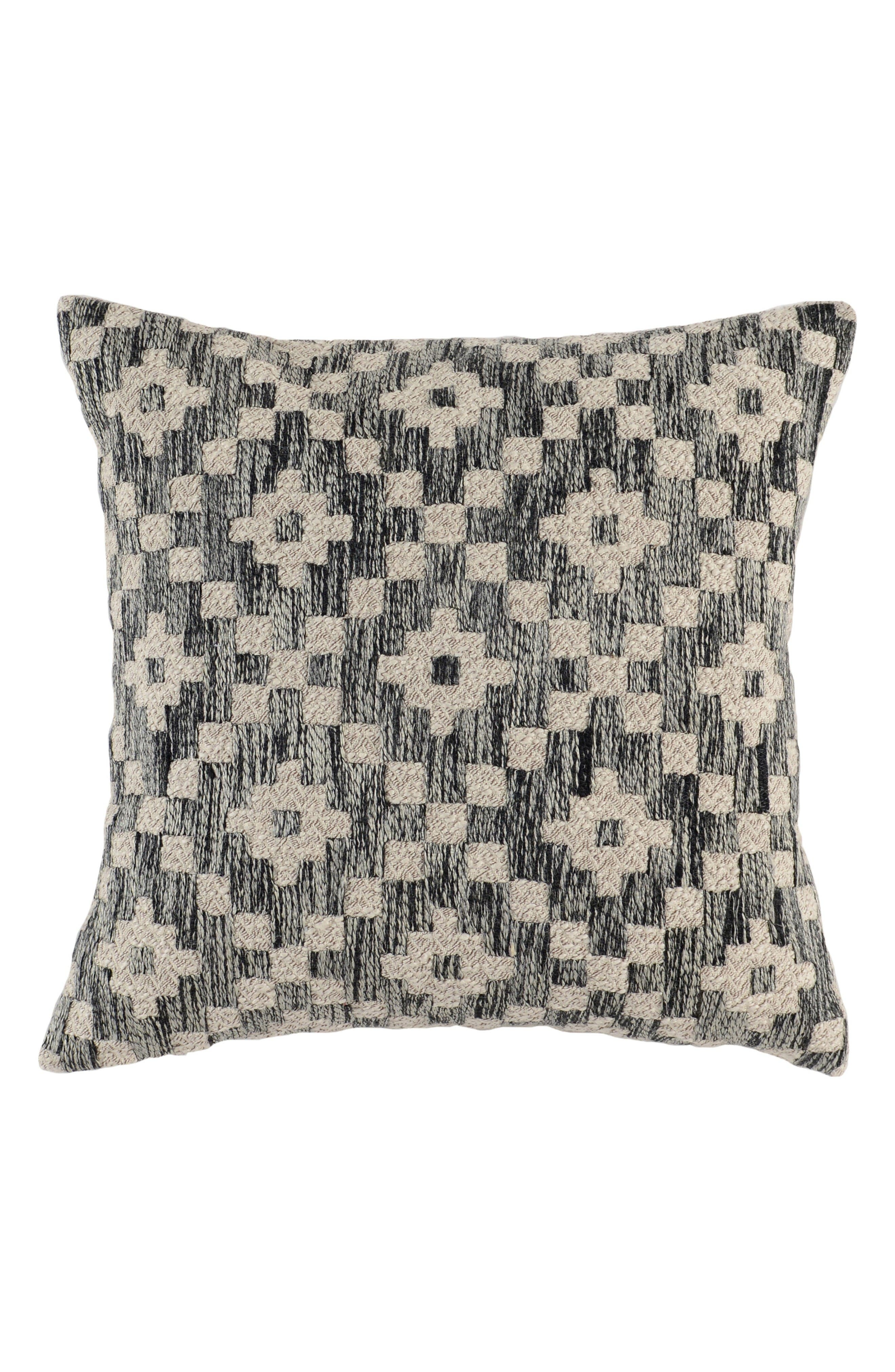 Perot Accent Pillow,                         Main,                         color, Onyx/ Ivory