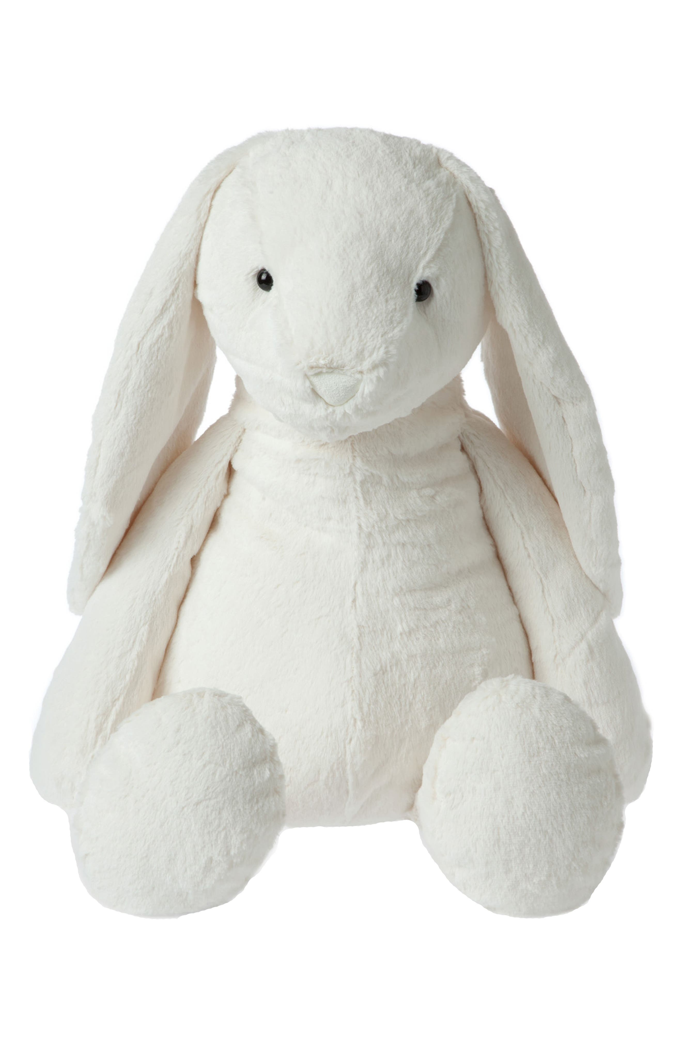 Lovelies - Jumbo Riley Rabbit Stuffed Animal,                         Main,                         color, White