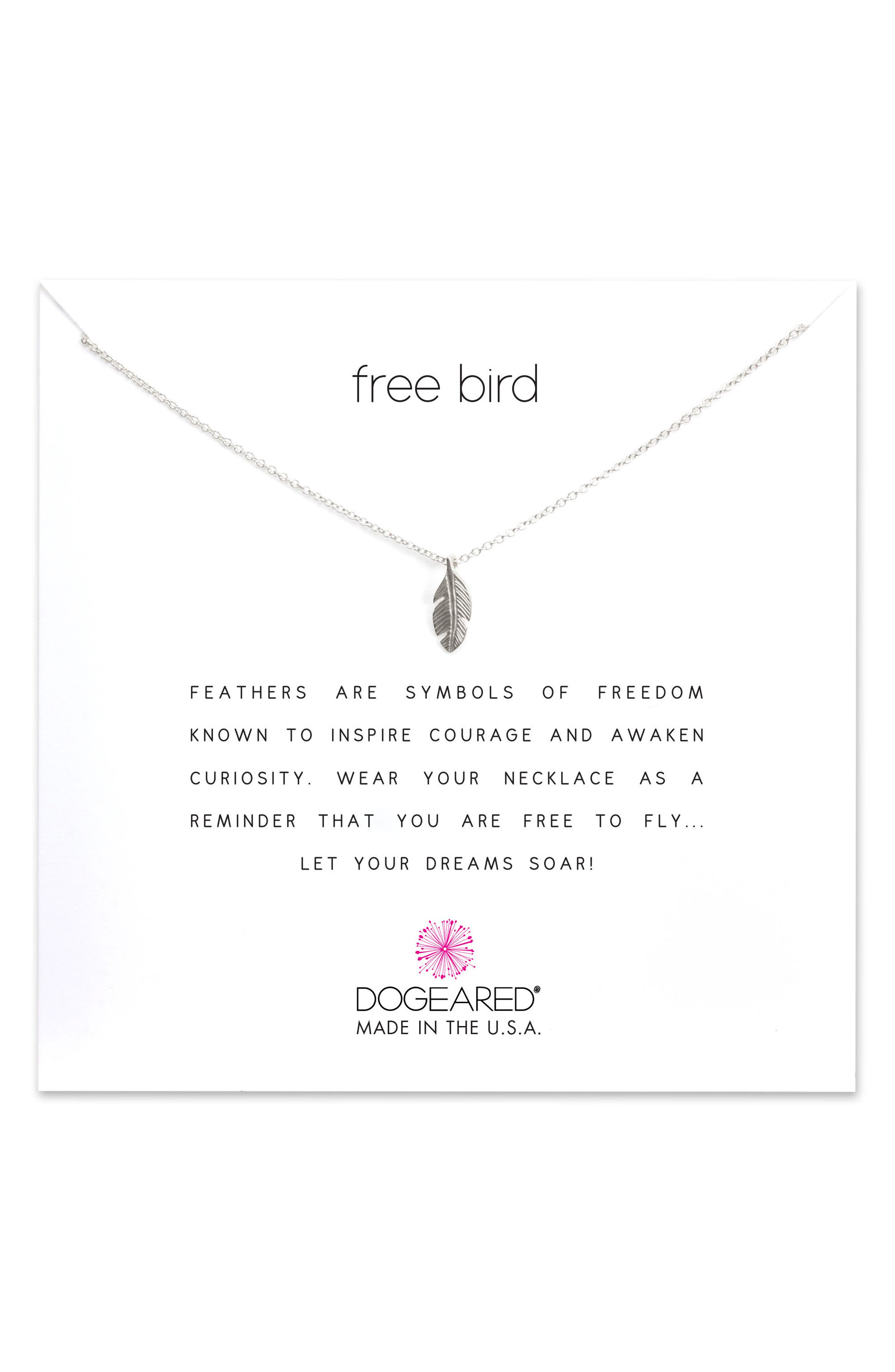 DOGEARED Reminder - Free Bird Pendant Necklace
