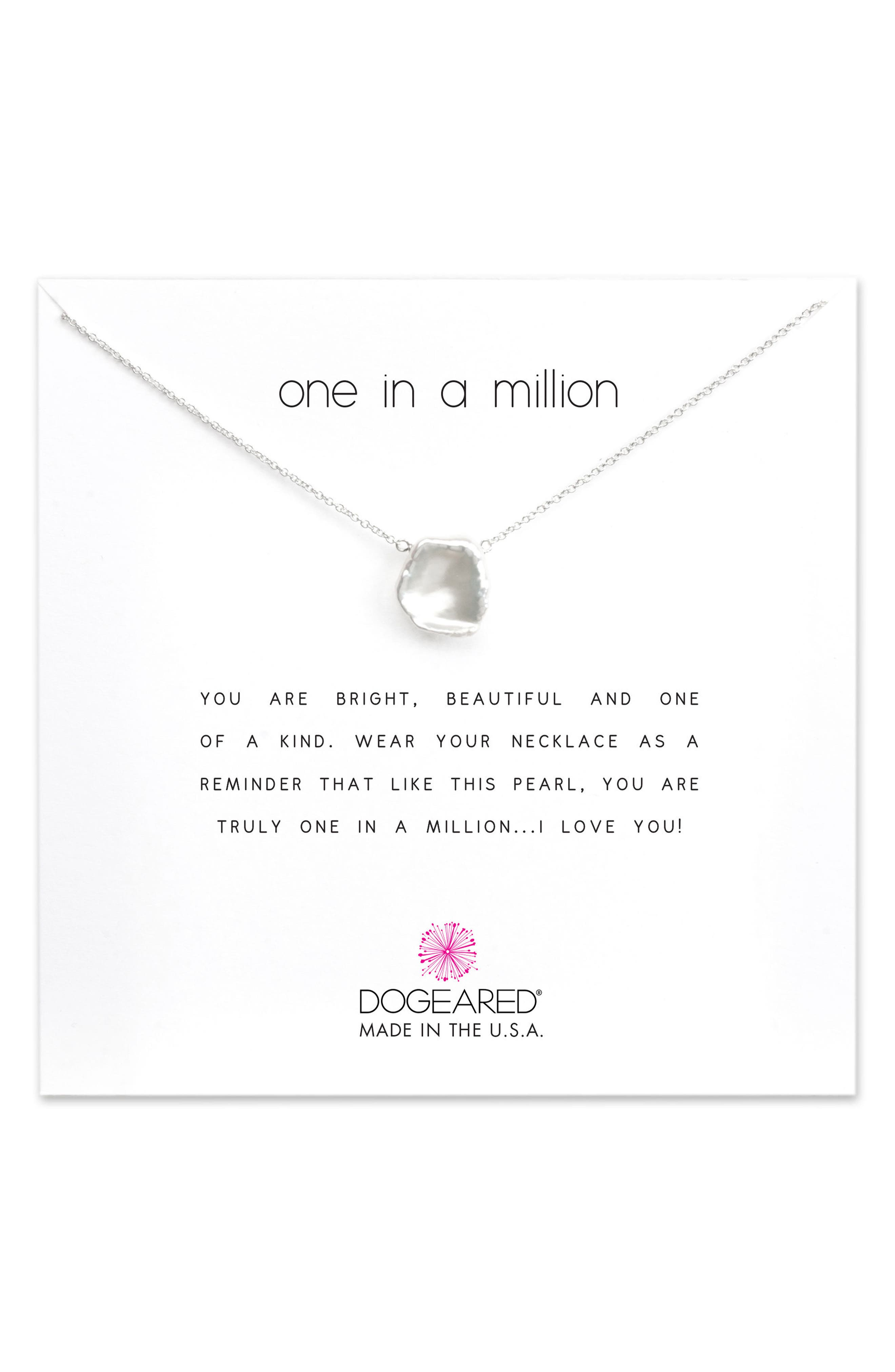 DOGEARED Reminder - One in a Million Keshi Pearl Pendant Necklace