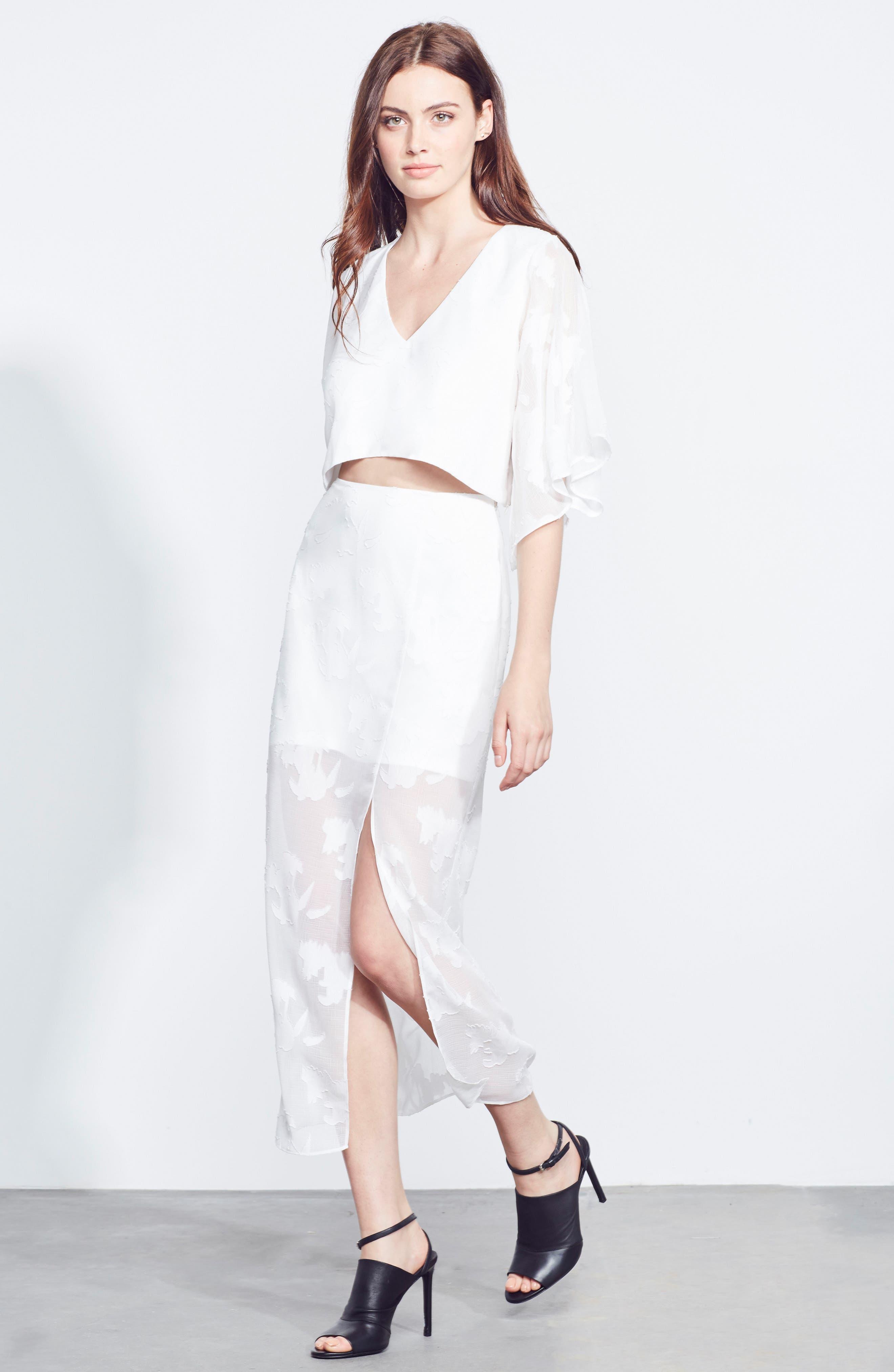 Two-Piece Dress,                             Alternate thumbnail 2, color,                             White Floral