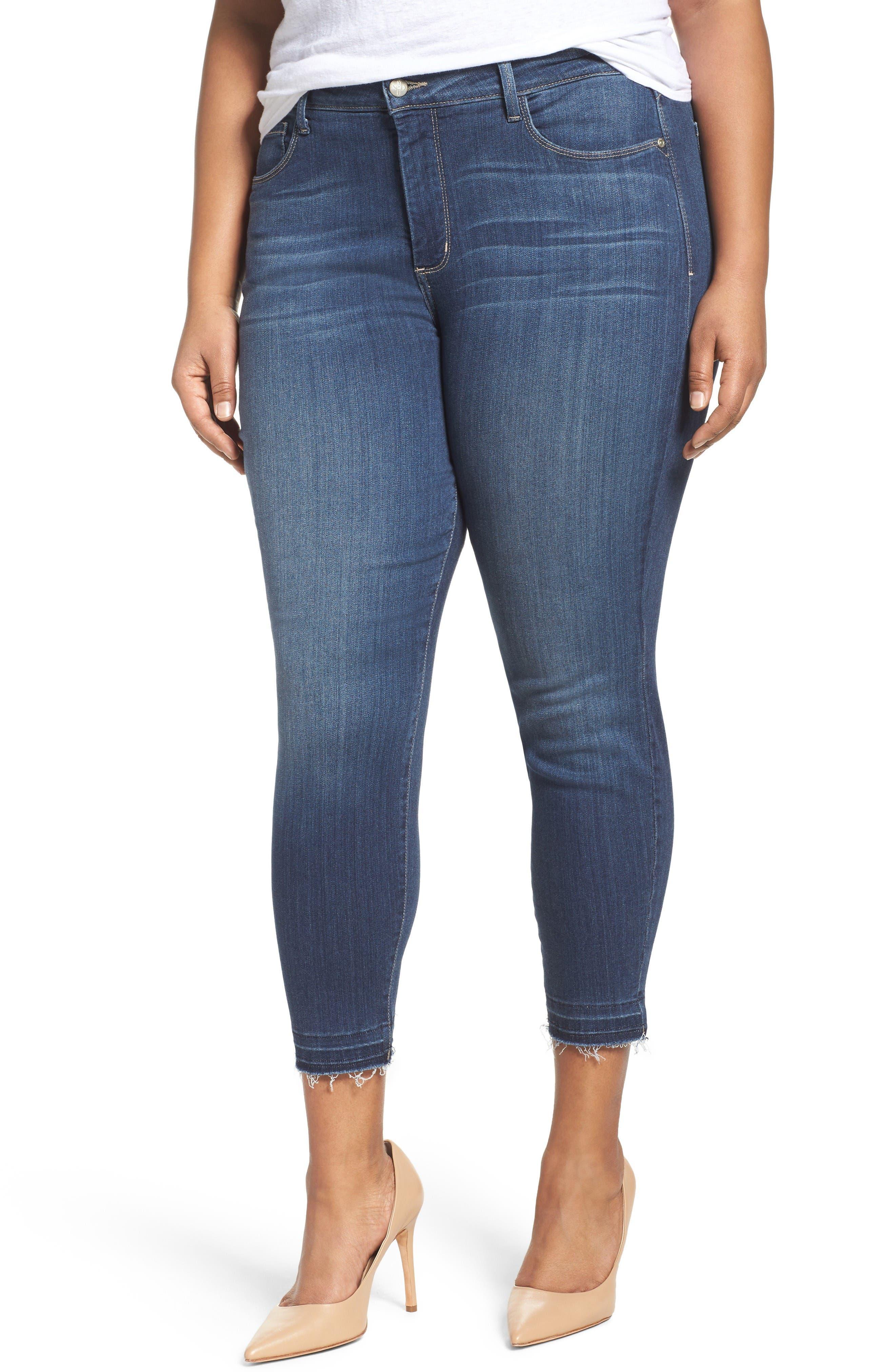 Ami Release Hem Stretch Skinny Jeans,                         Main,                         color, Saint Veran